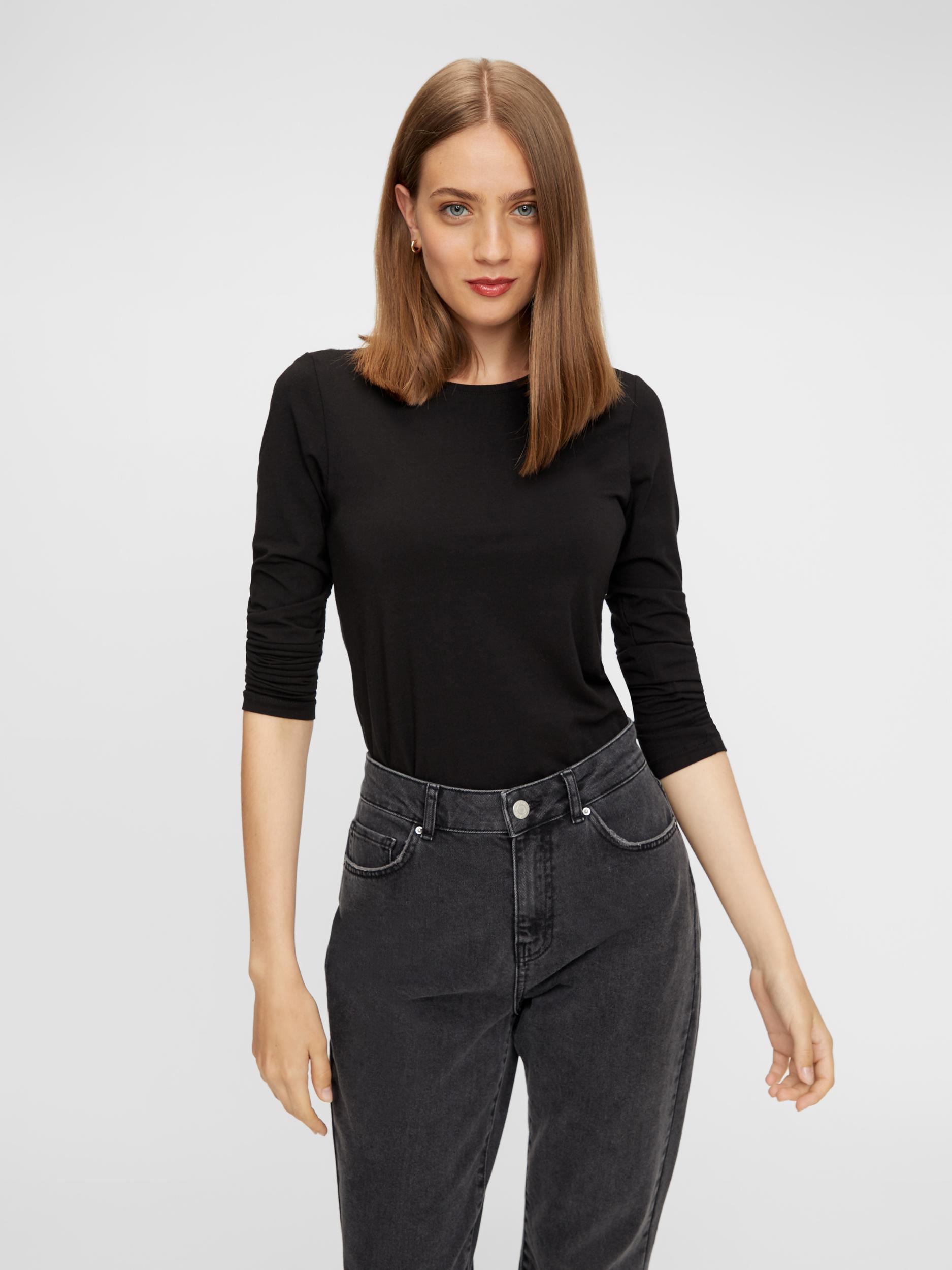 Black basic T-shirt Pieces Sirene