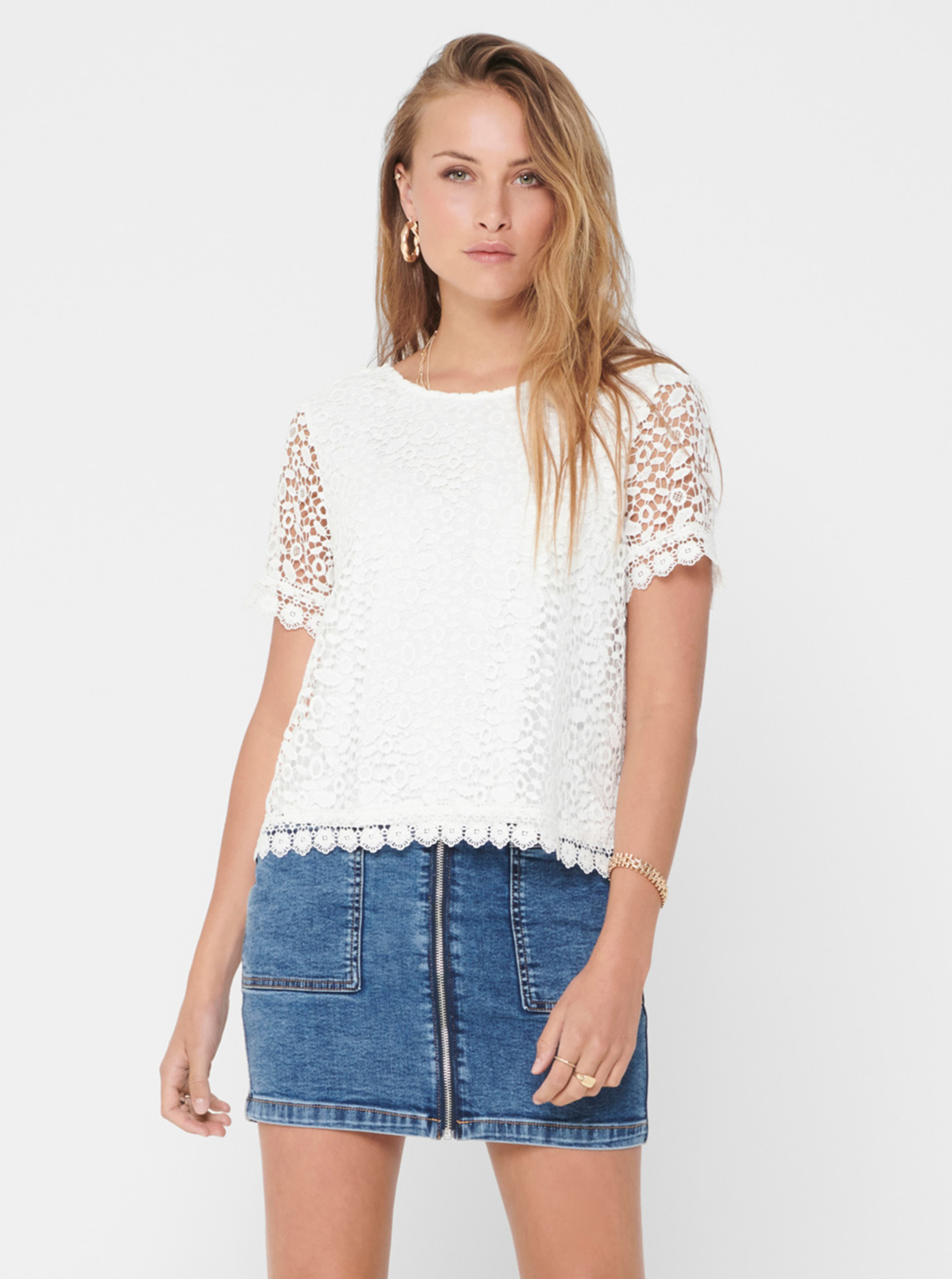 White lace blouse ONLY Trissy