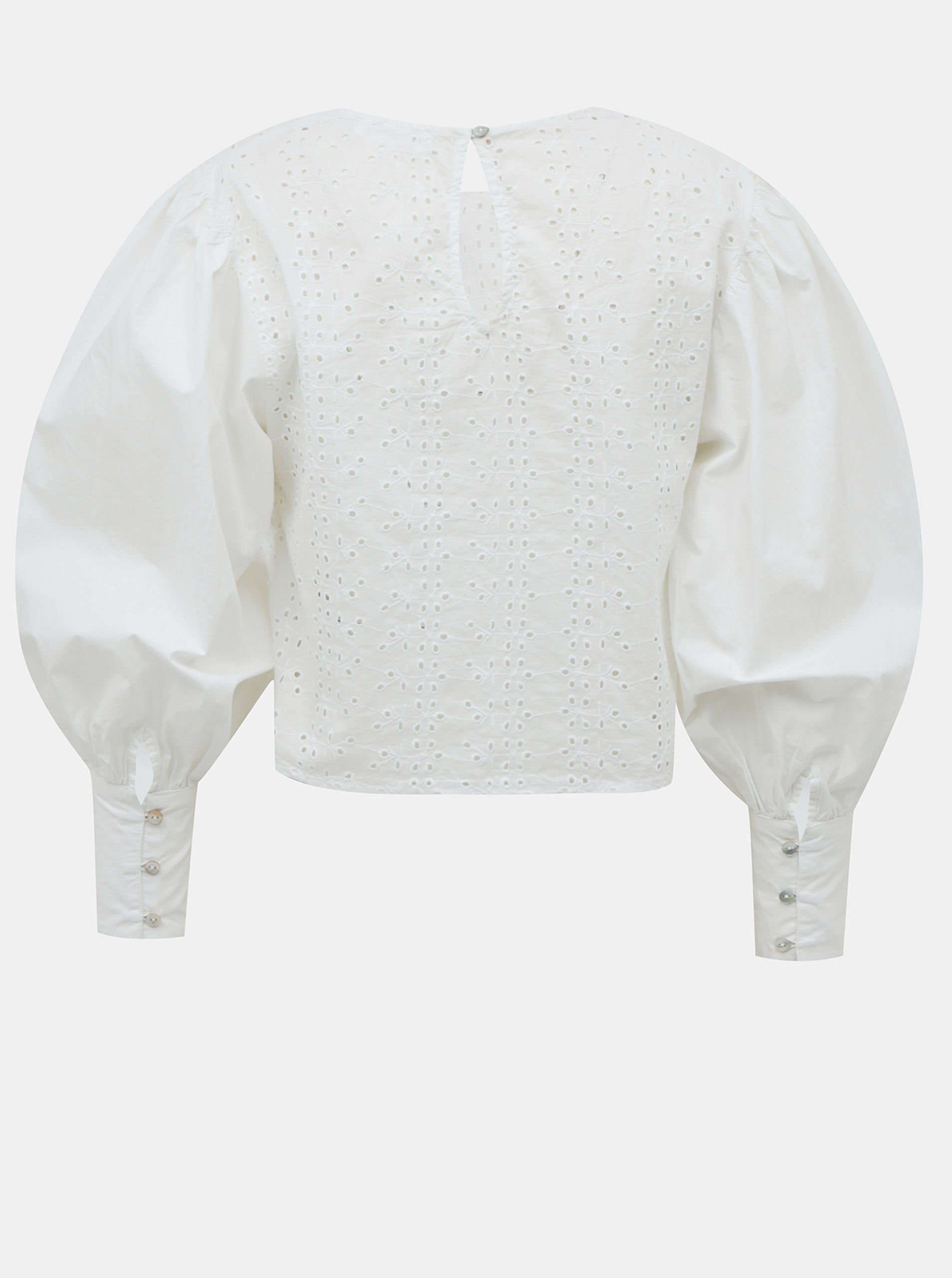 White short blouse with madeira TALLY WEiJL