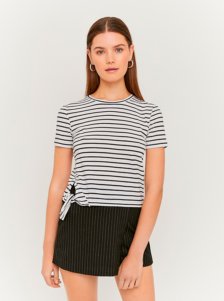 Black and white striped short T-shirt TALLY WEiJL