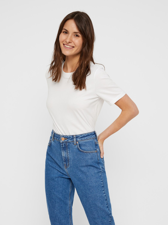 White basic T-shirt Pieces Ria