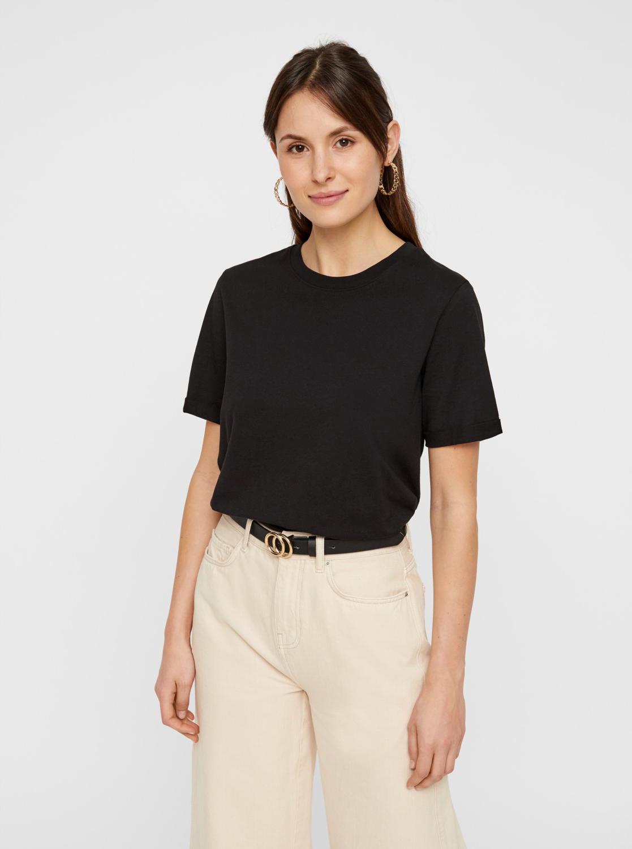 Black basic T-shirt Pieces Ria
