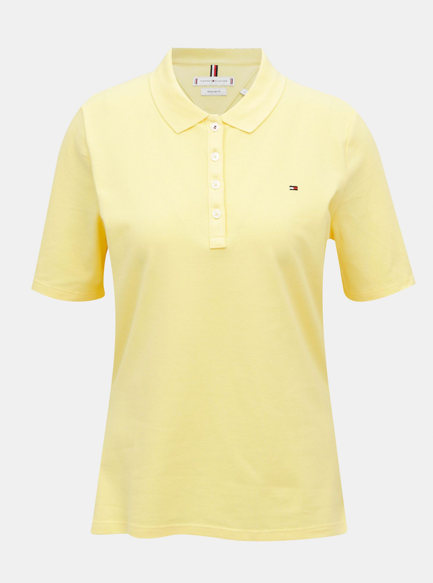 Yellow women's polo shirt Tommy Hilfiger