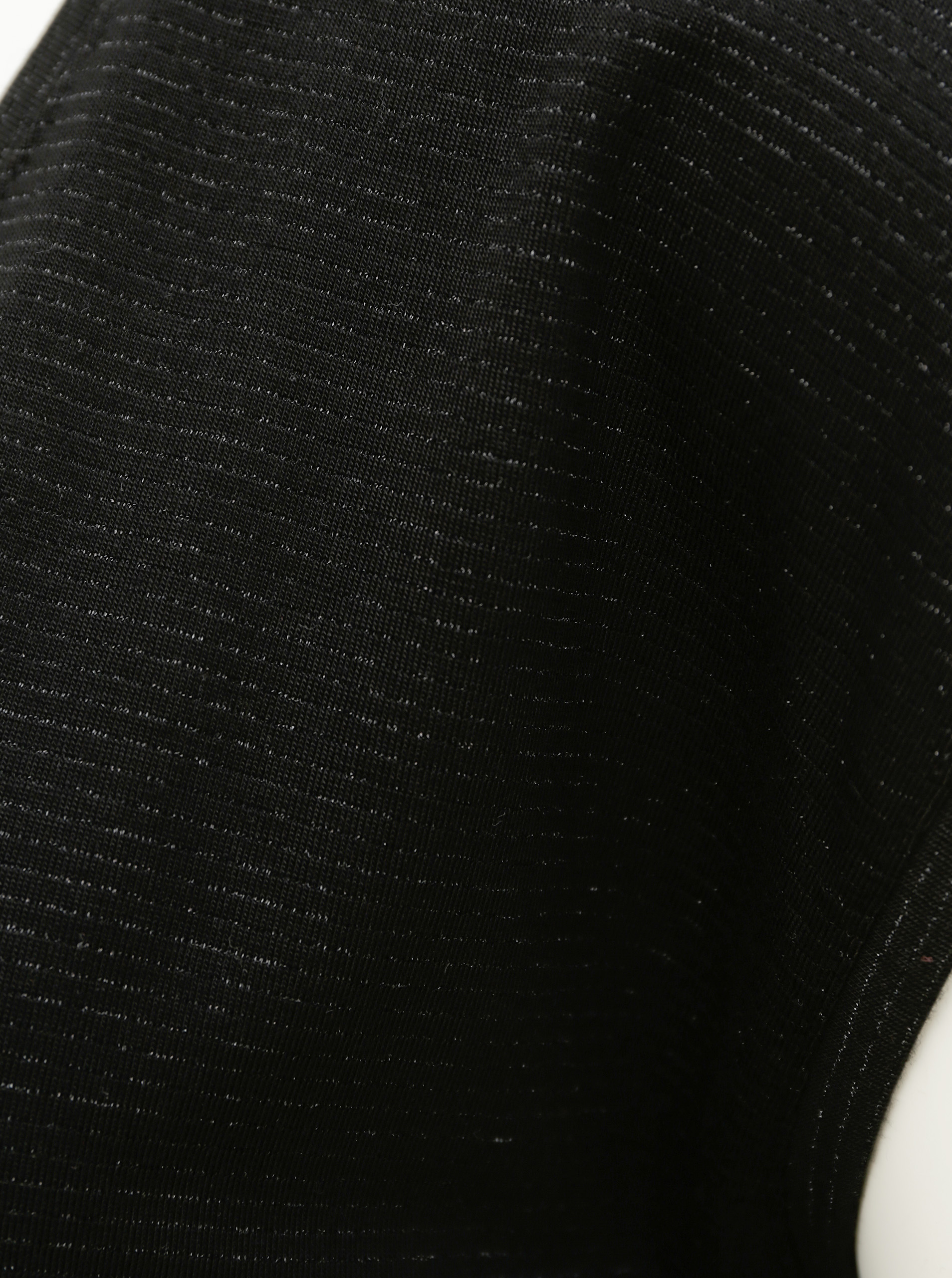 Black T-shirt with metallic fibers Pieces