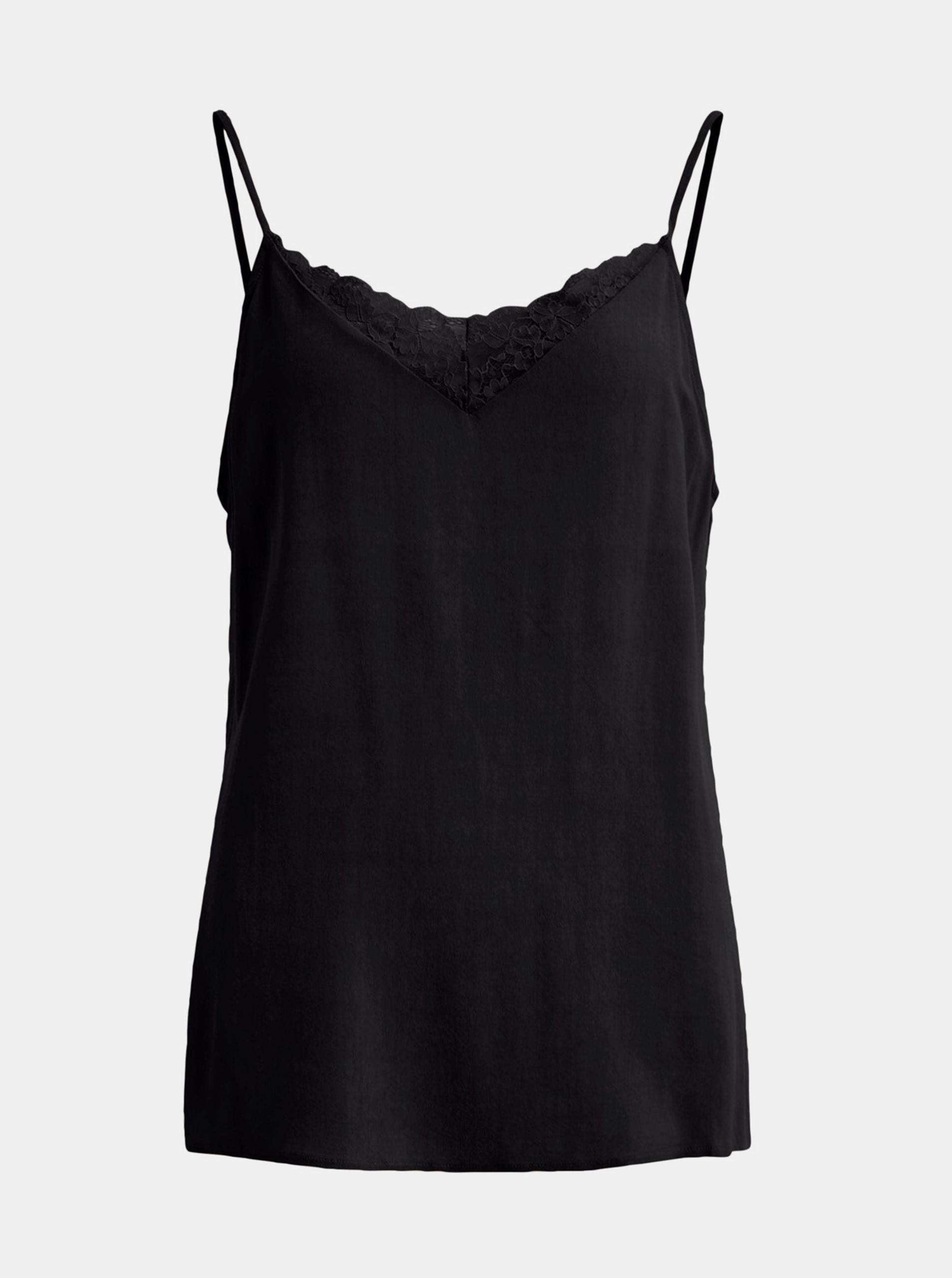 Black top with lace VILLA
