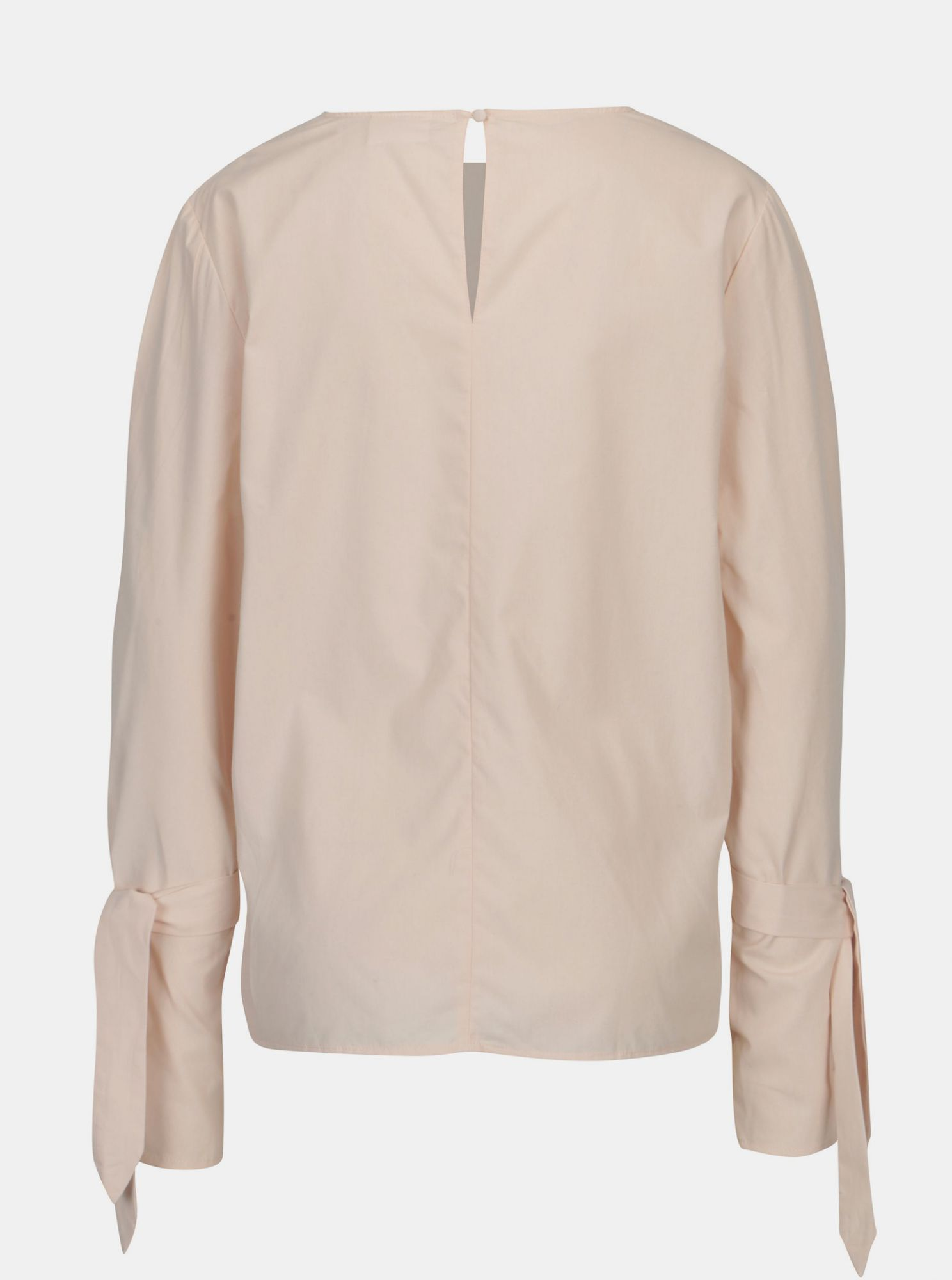 Light pink blouse with bell sleeves VILA Jenner