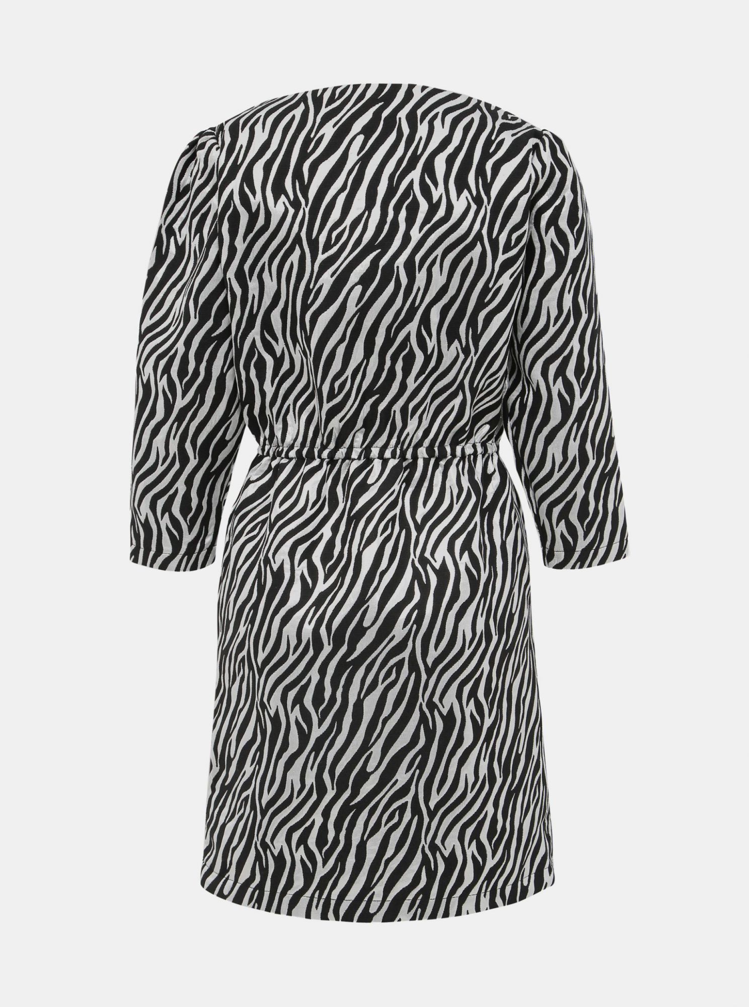 Dress in silver and black with a ribbed pattern VILA Arna