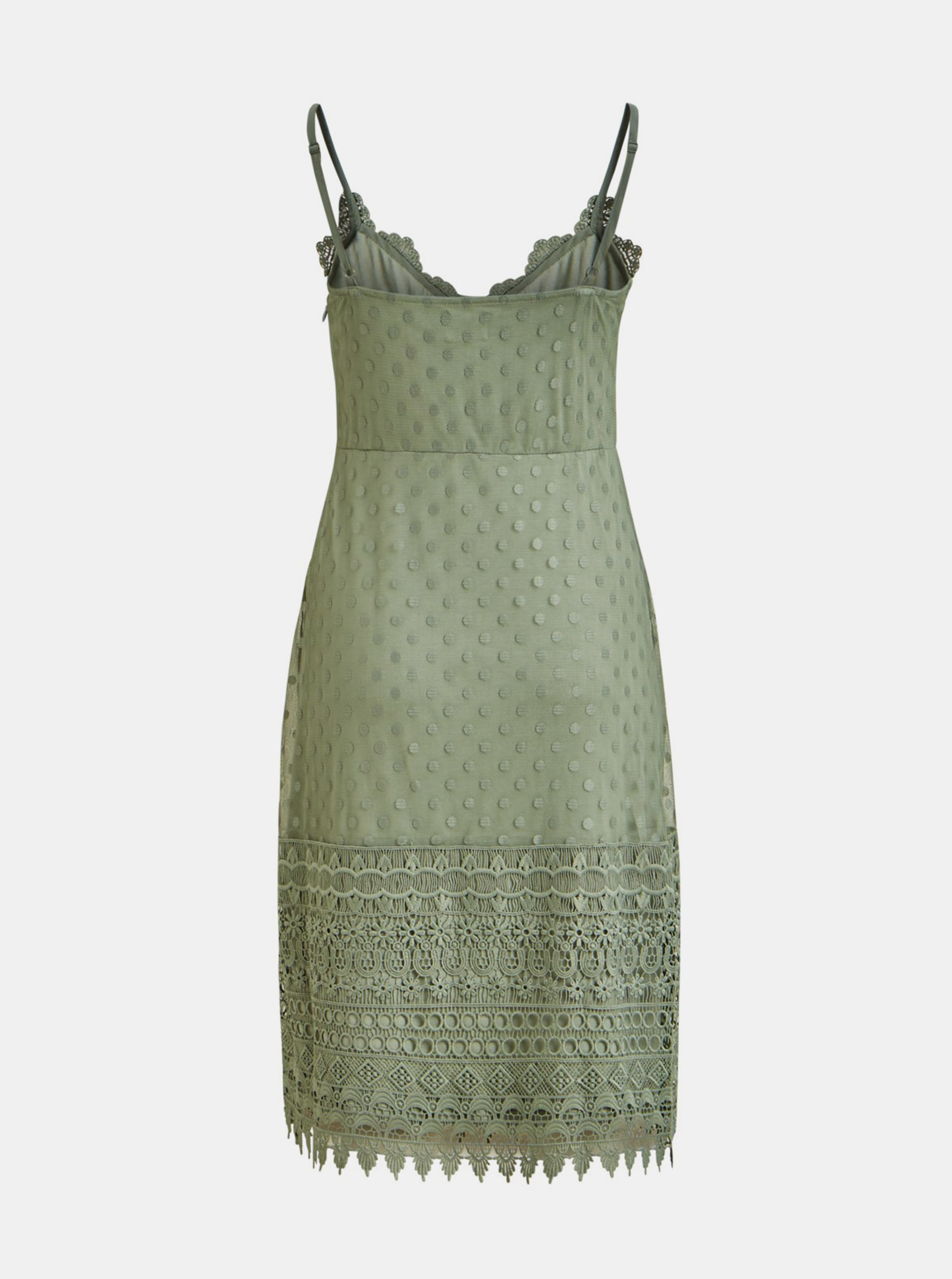 Green dress with lace details VILA Waverly