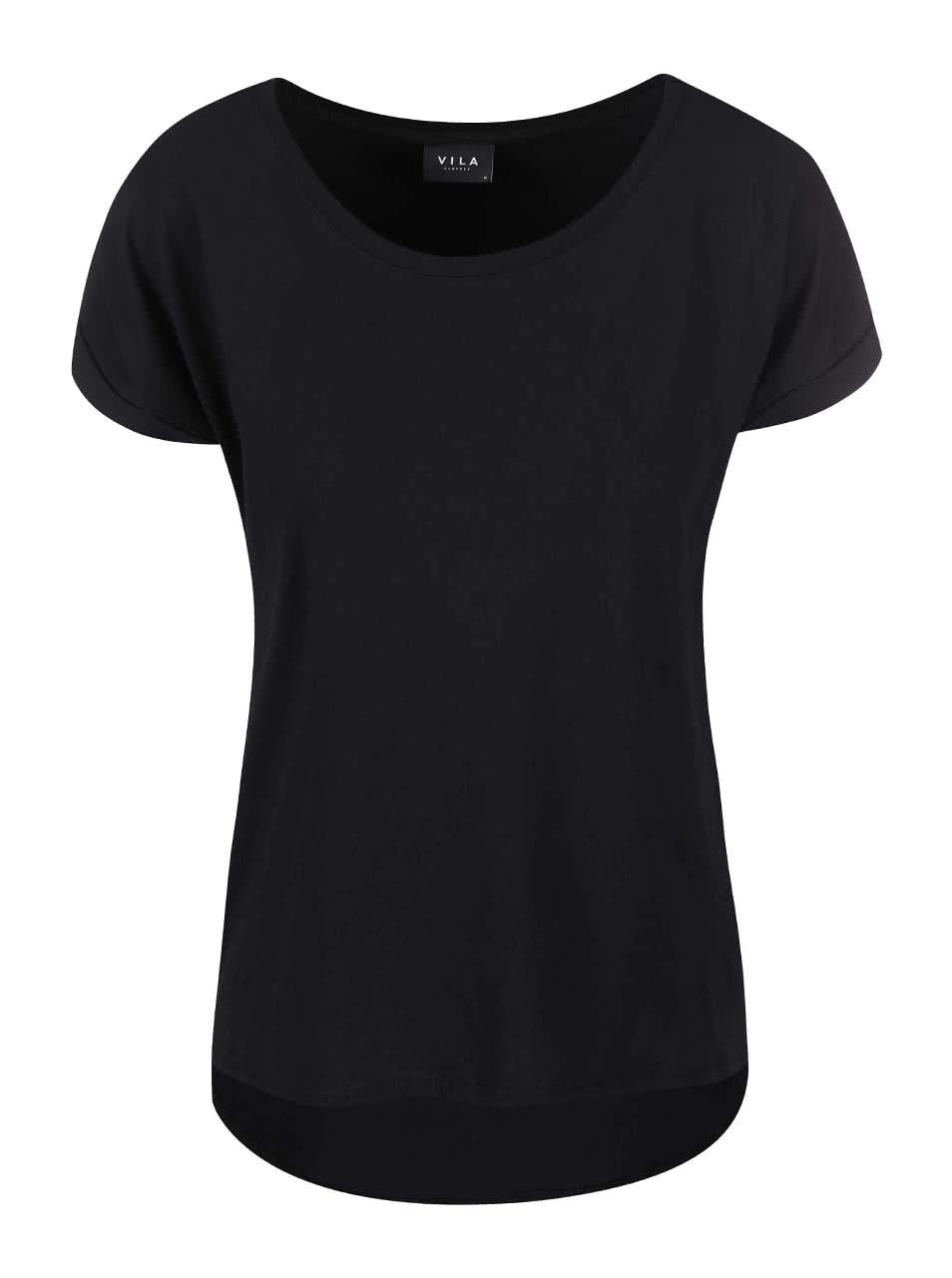 Black basic T-shirt VILA Dreamers