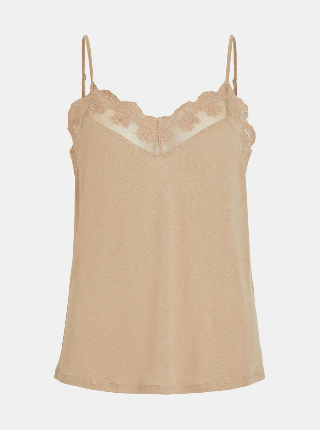 Beige top with a mixture of flax VILA
