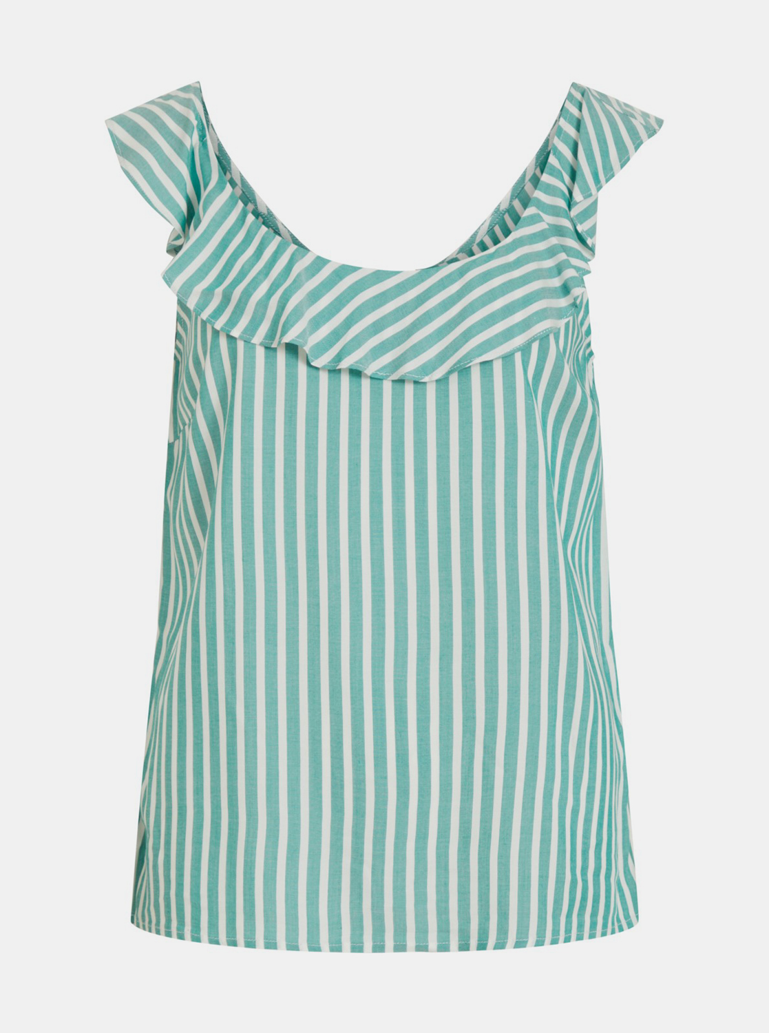 Turquoise striped top VILA