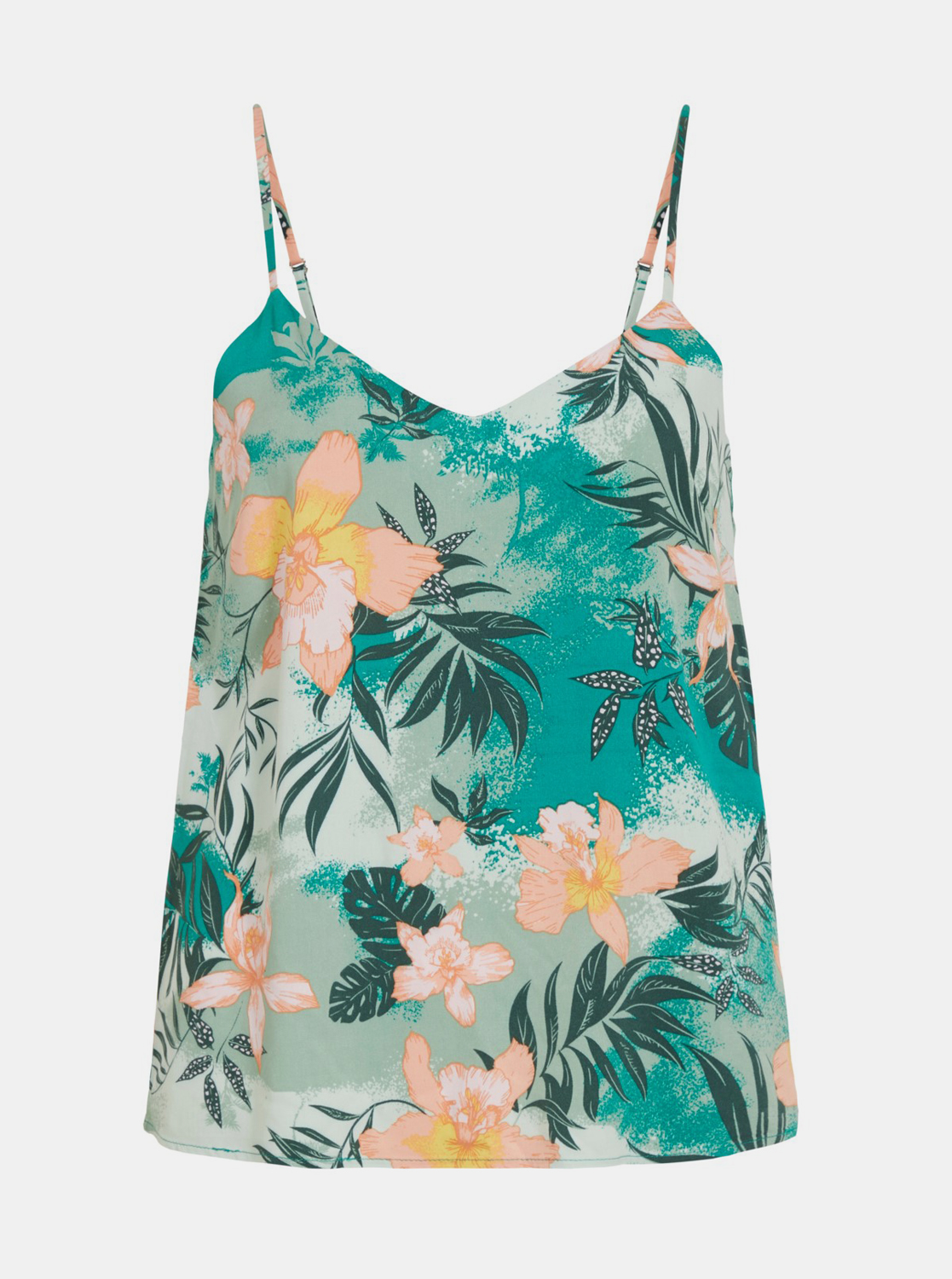 Green flowered top VILA Suvita