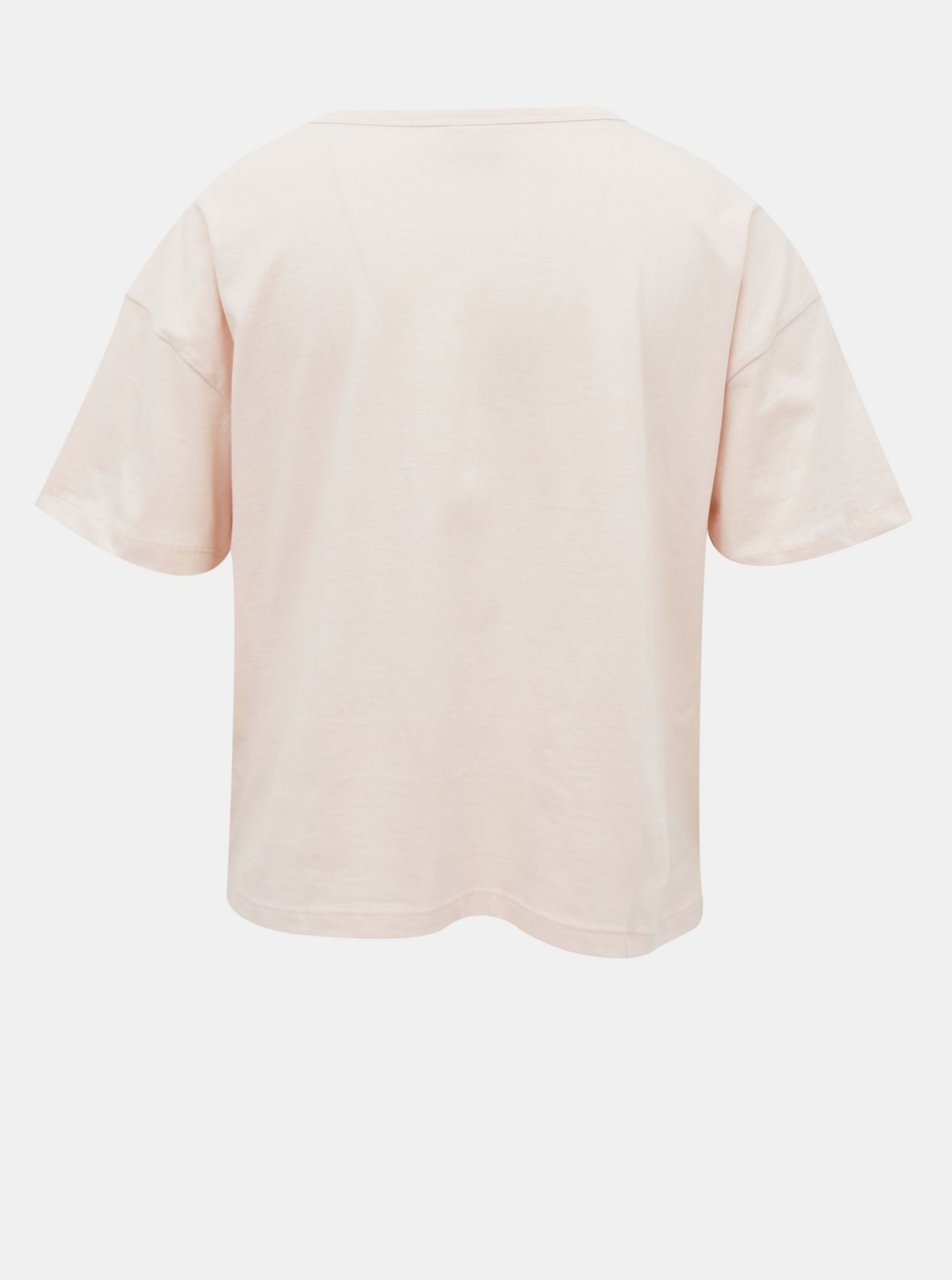 Light pink short t-shirt with Jacqueline de Yong Fang print