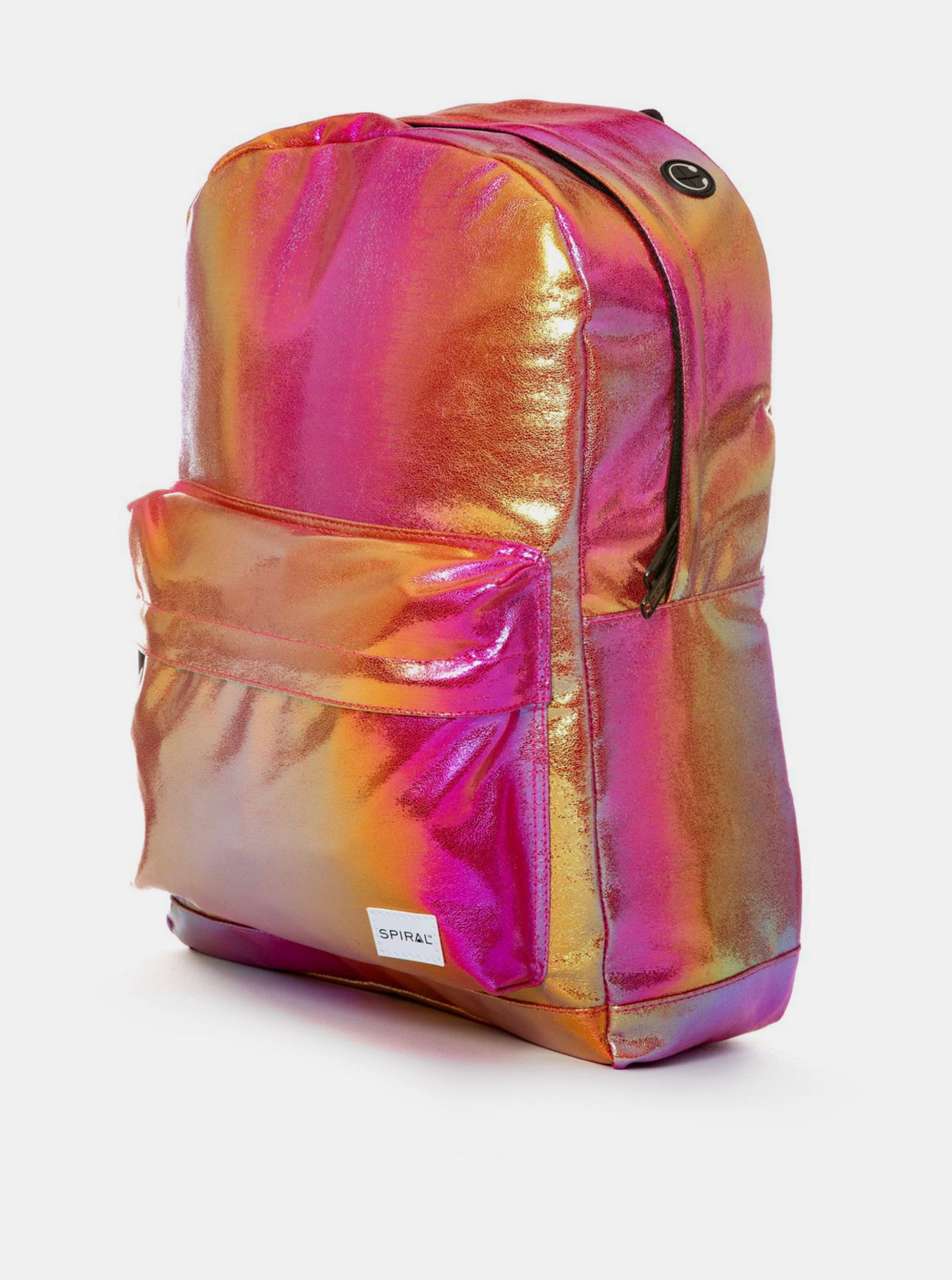 Pink glossy backpack Spiral