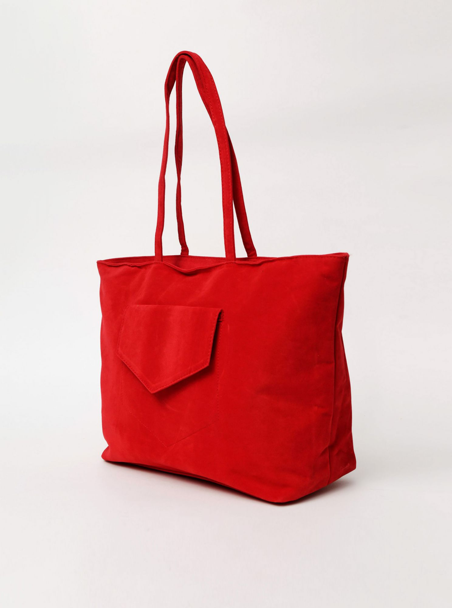 Red handbag in suede Haily's Shoppy