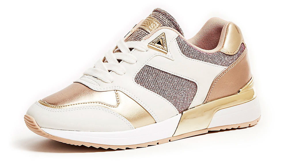 Guess gold sneakers Motiv Laminated