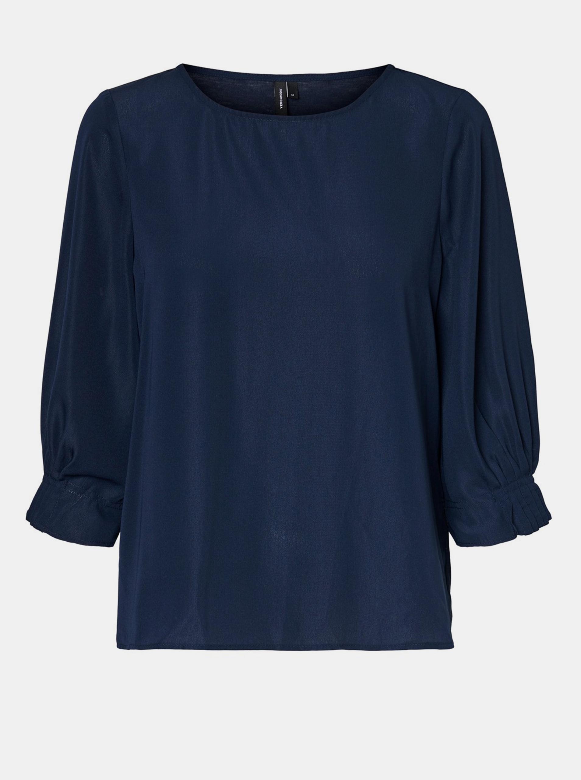 Dark blue loose blouse VERO MODA Vonnie