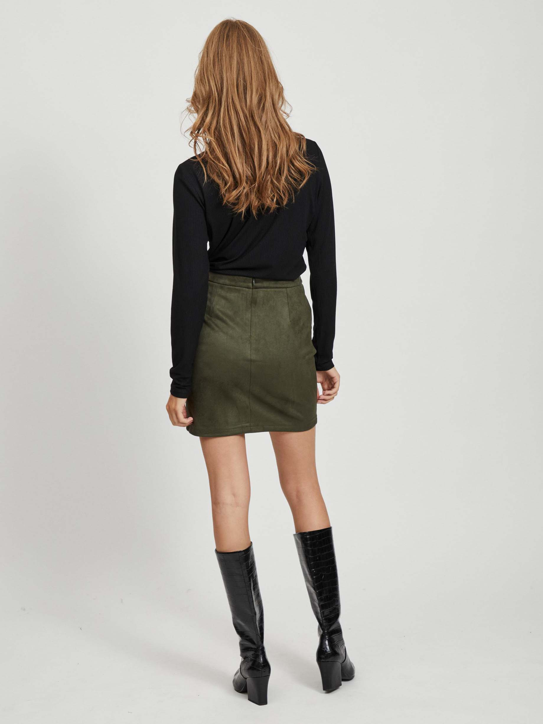 Black blouse with lace VILA Solitta