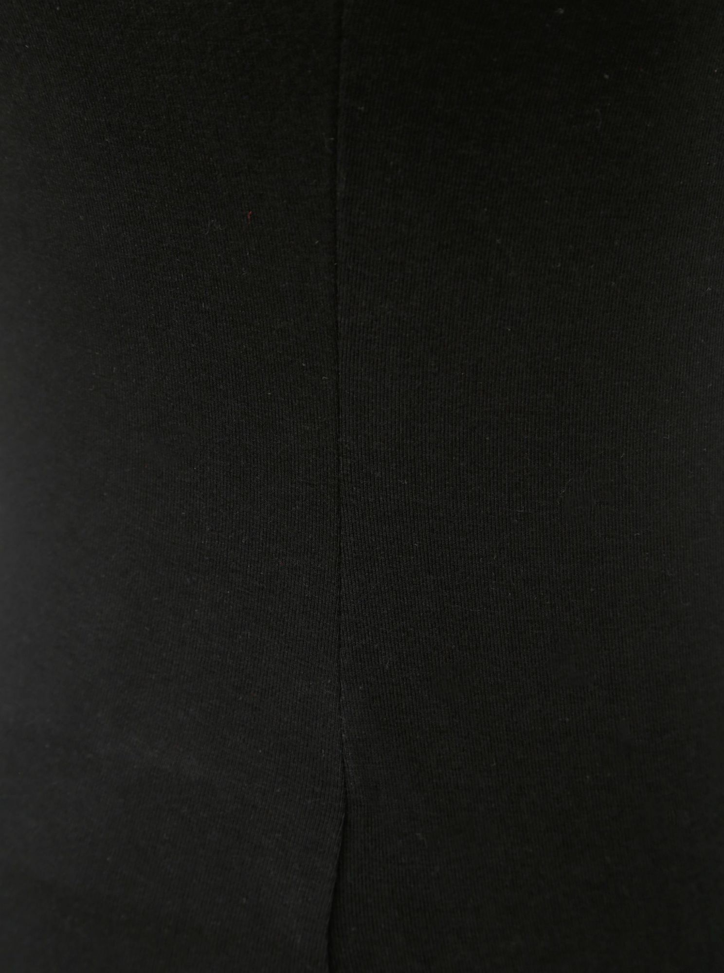 Black T-shirt with ribbons in the neckline TALLY WEiJL Libro