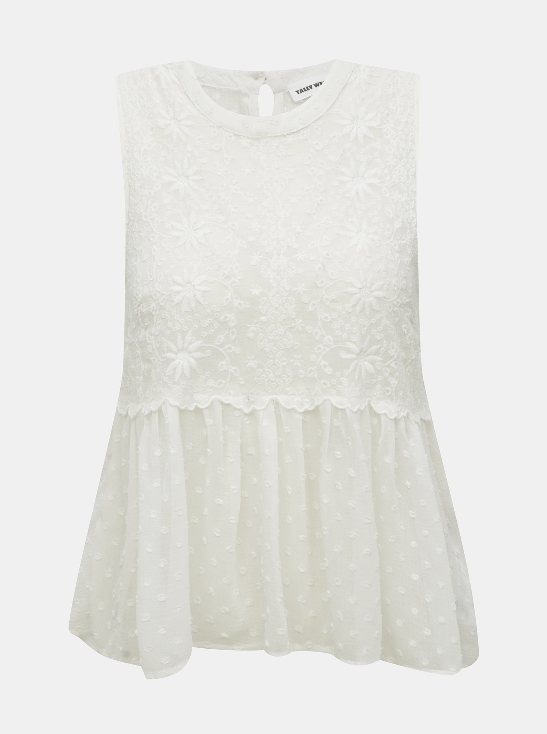 White lace translucent blouse TALLY WEiJL