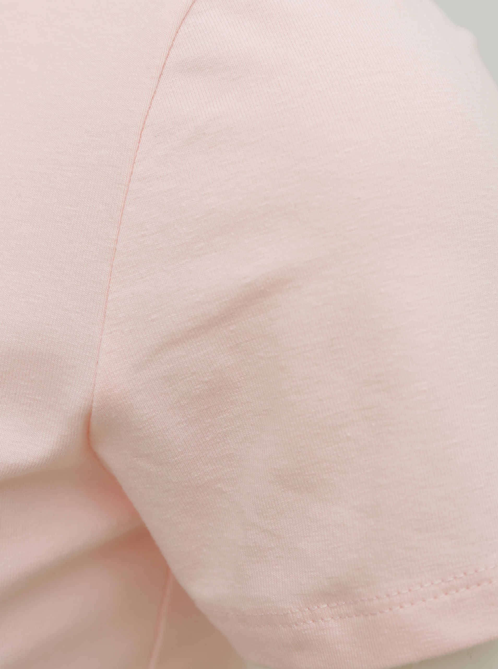 Pink T-shirt with ribbons in the neckline TALLY WEiJL