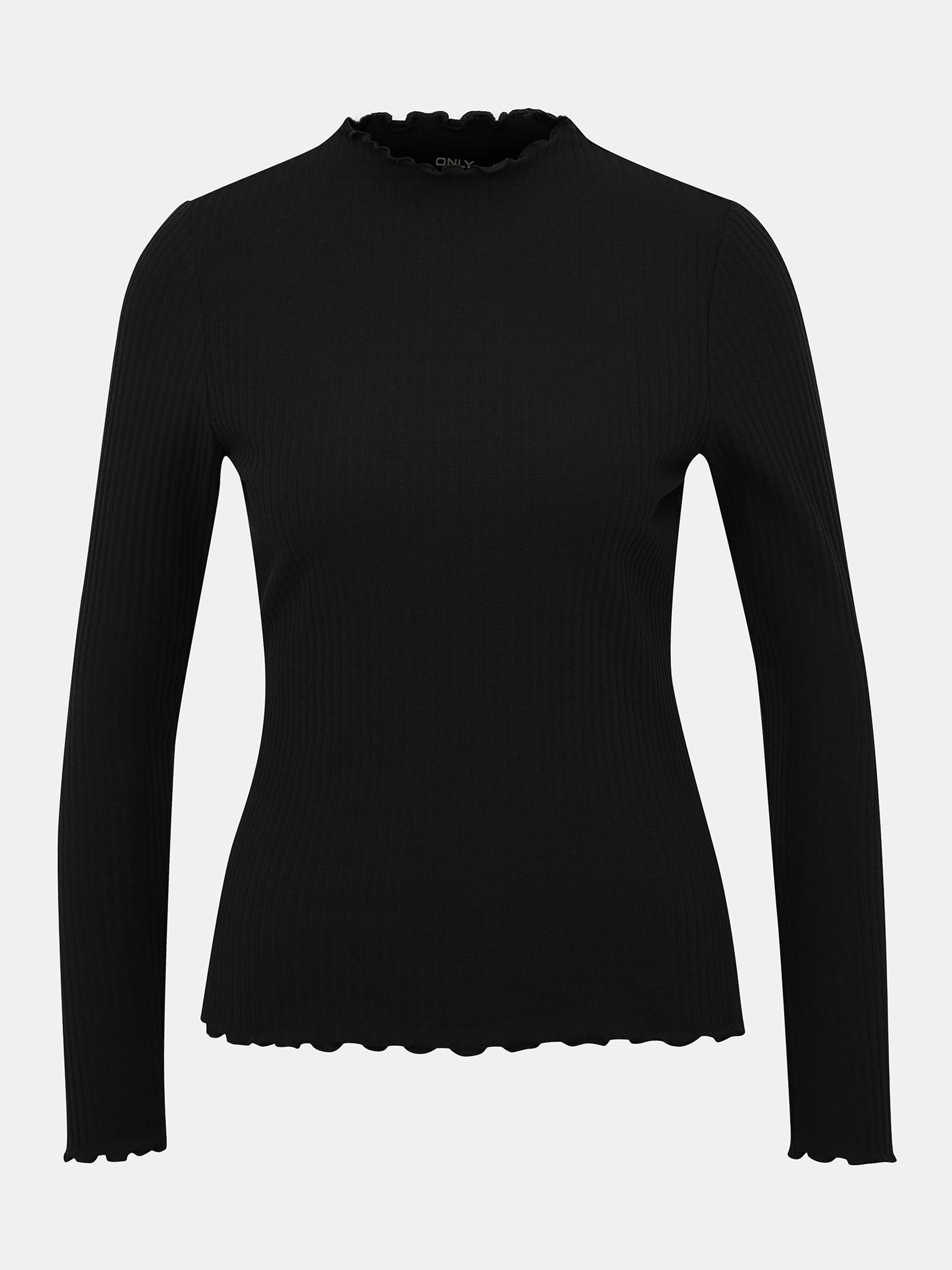 Black ribbed T-shirt ONLY Emma