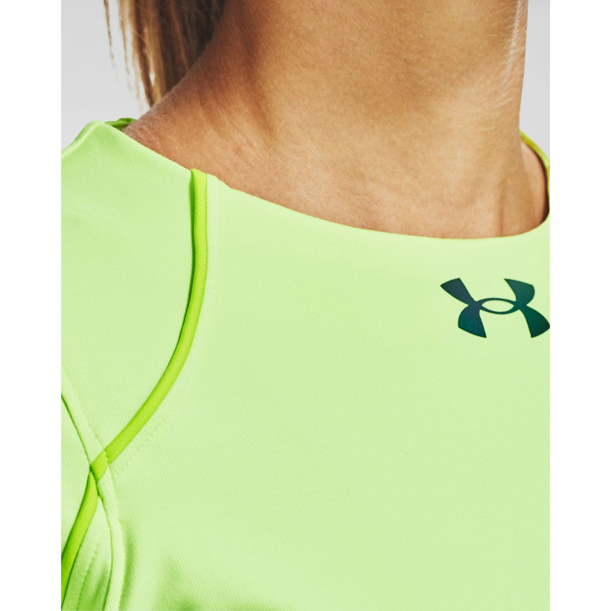 T-shirt Under Armour CG Rush LS Crew-GRN
