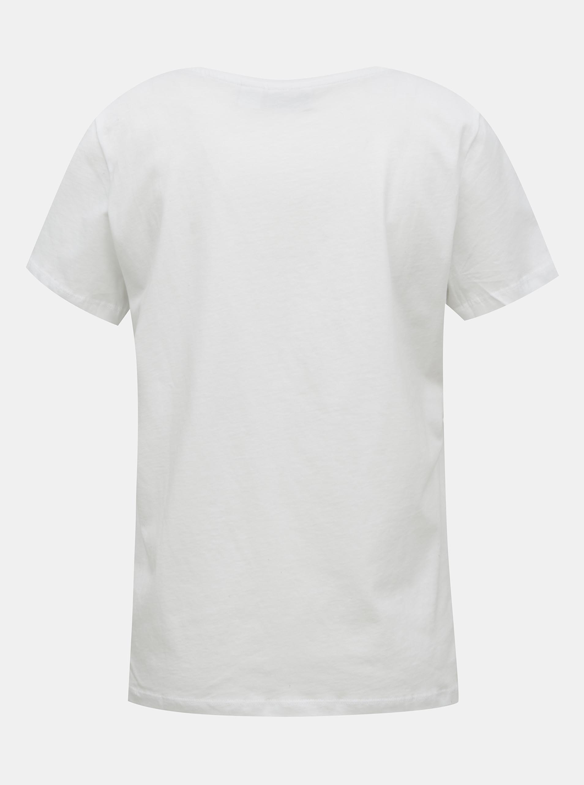 White T-shirt with Noisy May Nate print