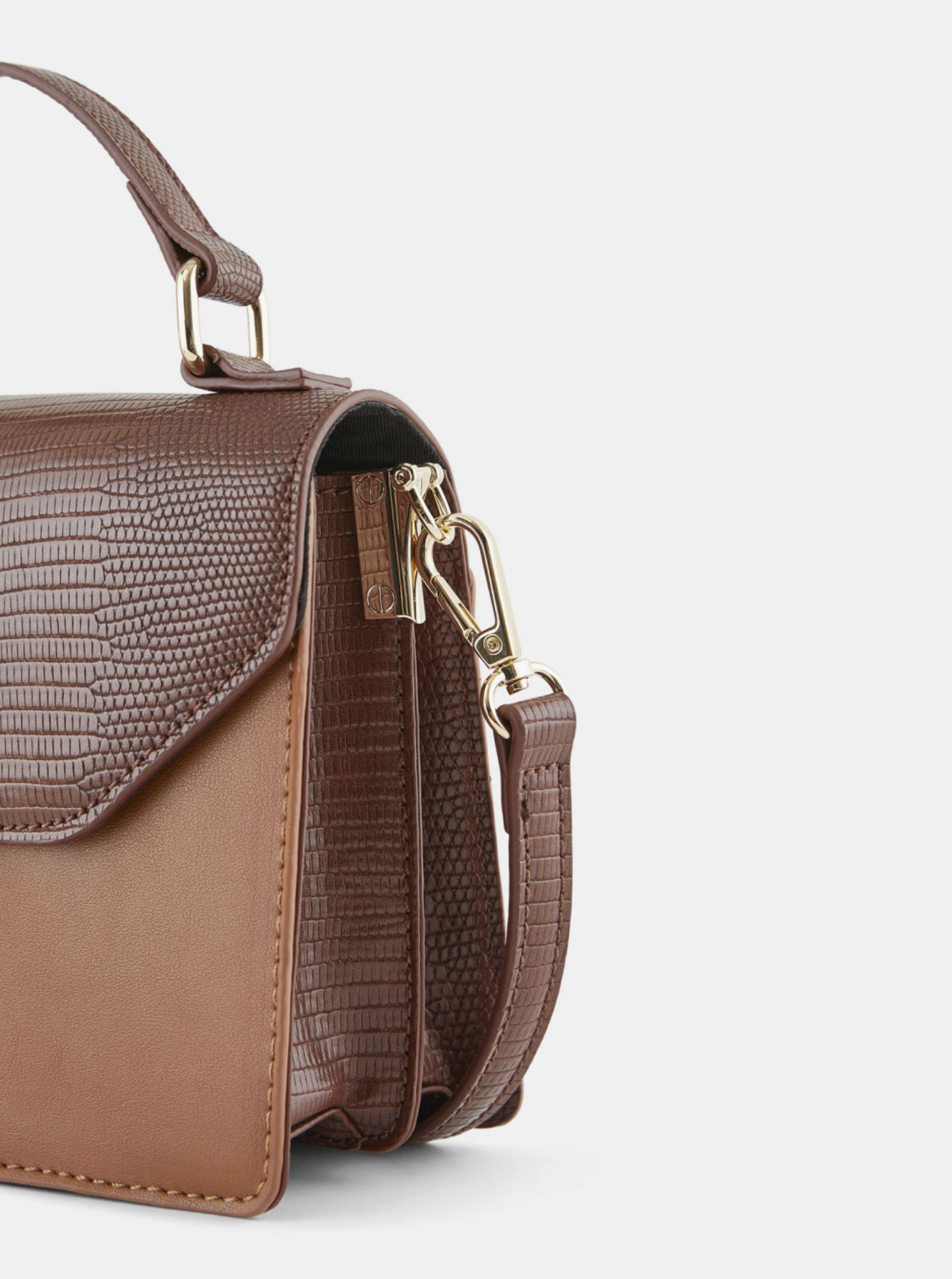 Brown crossbody handbag Pieces Carrie