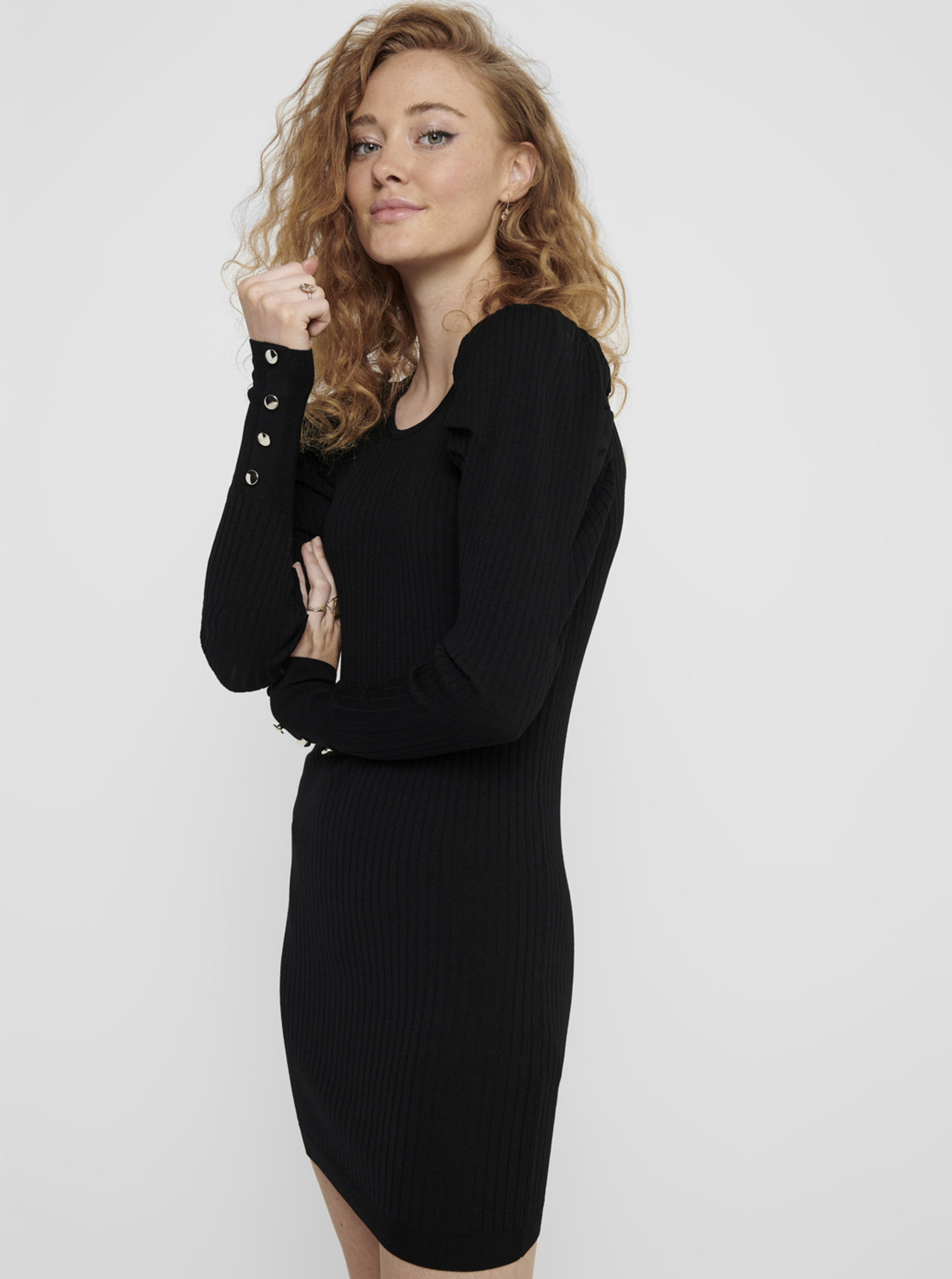 Black sweater dress ONLY Avy