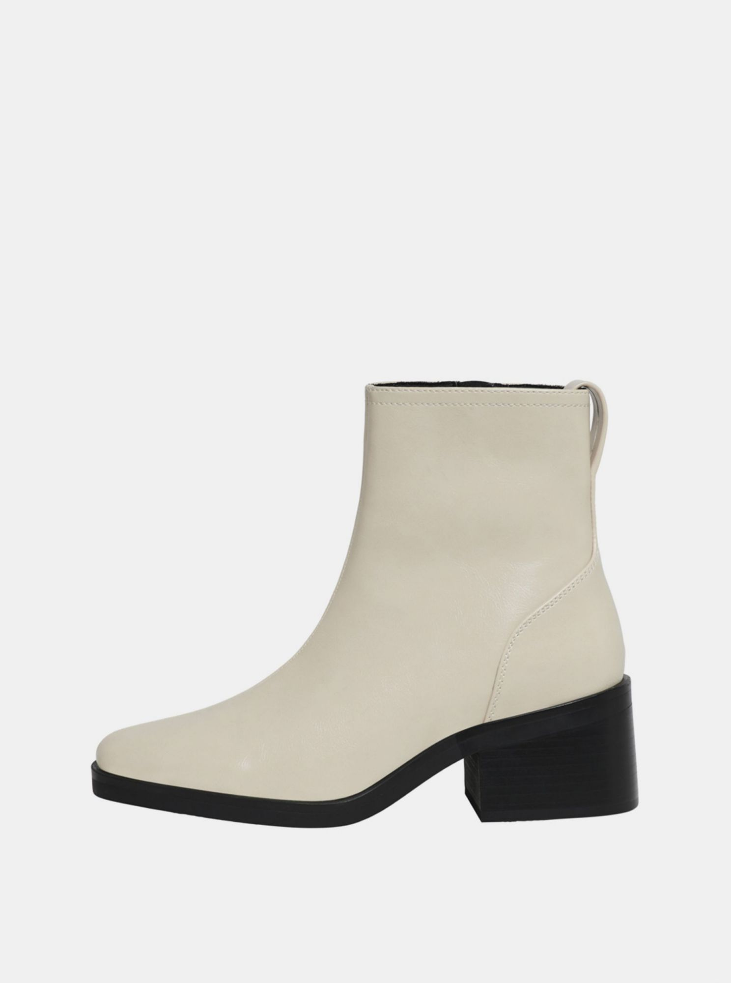 Cream ankle boots ONLY Blush