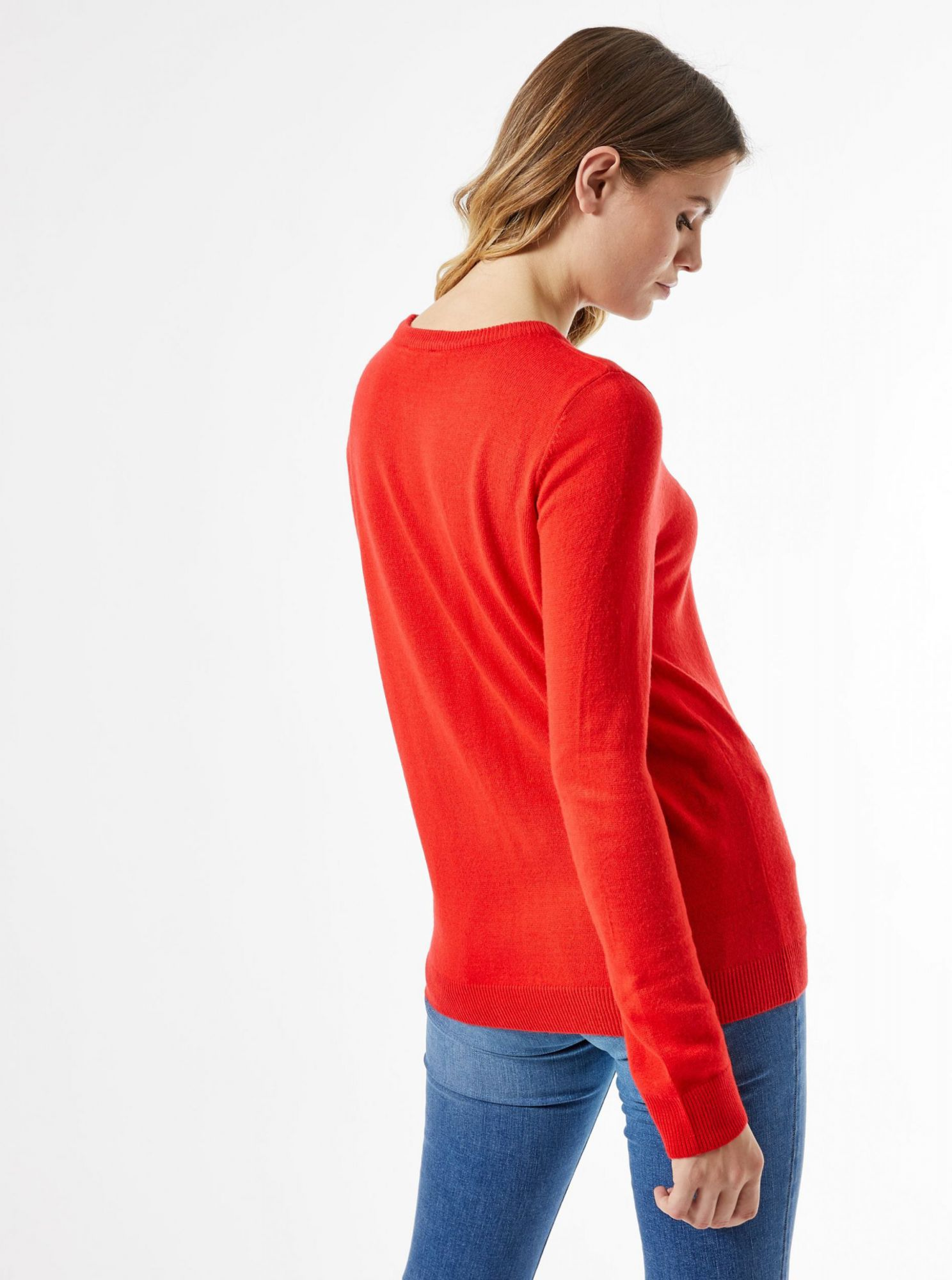 Dorothy Perkins red patterned sweater