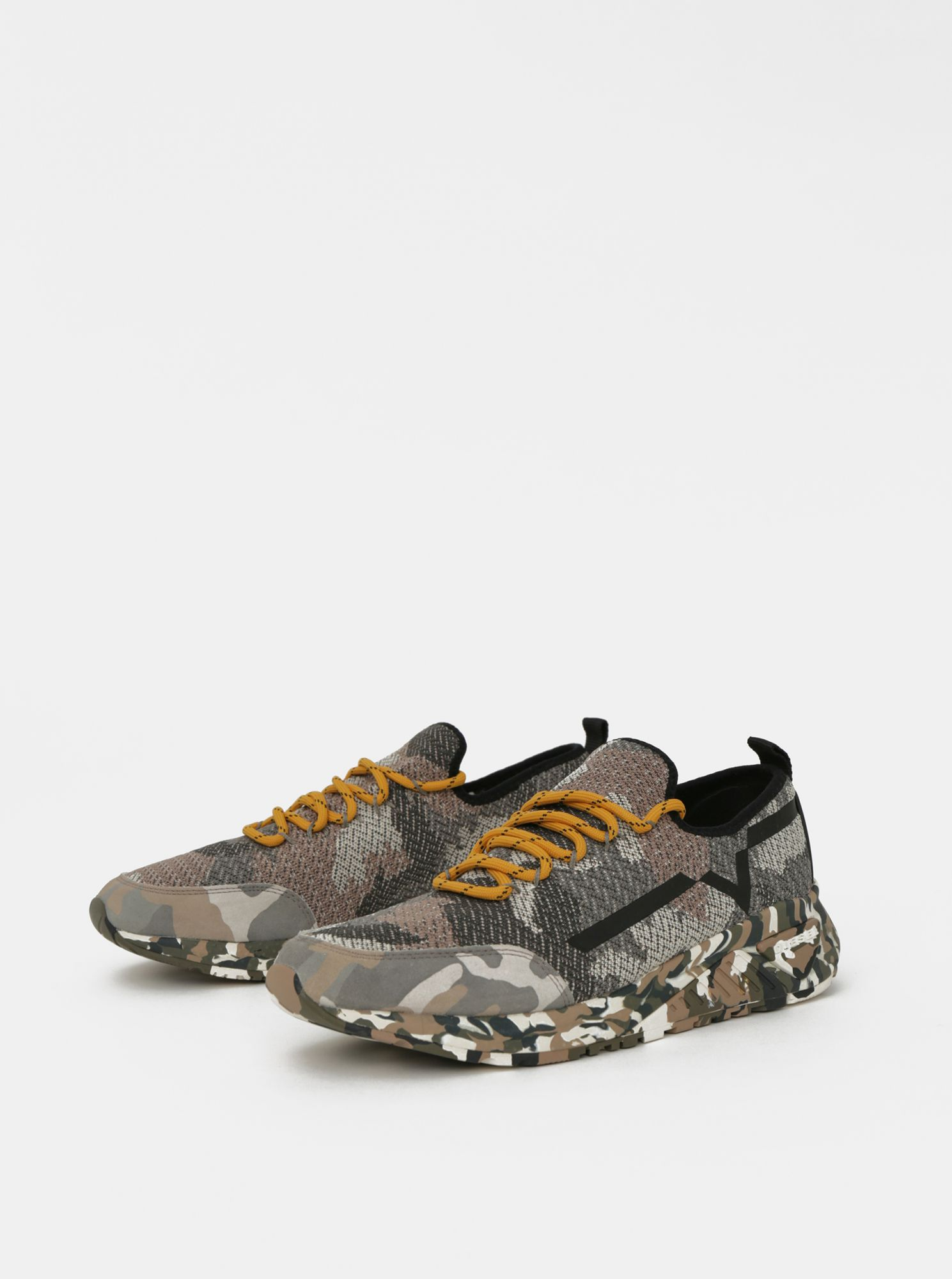 Beige-gray men's camouflage sneakers Diesel