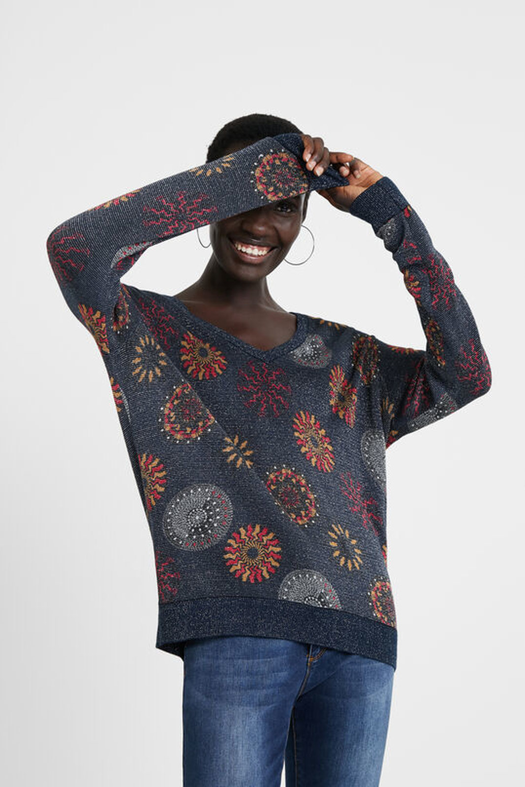 Desigual multicolor sweater Jers Mesina
