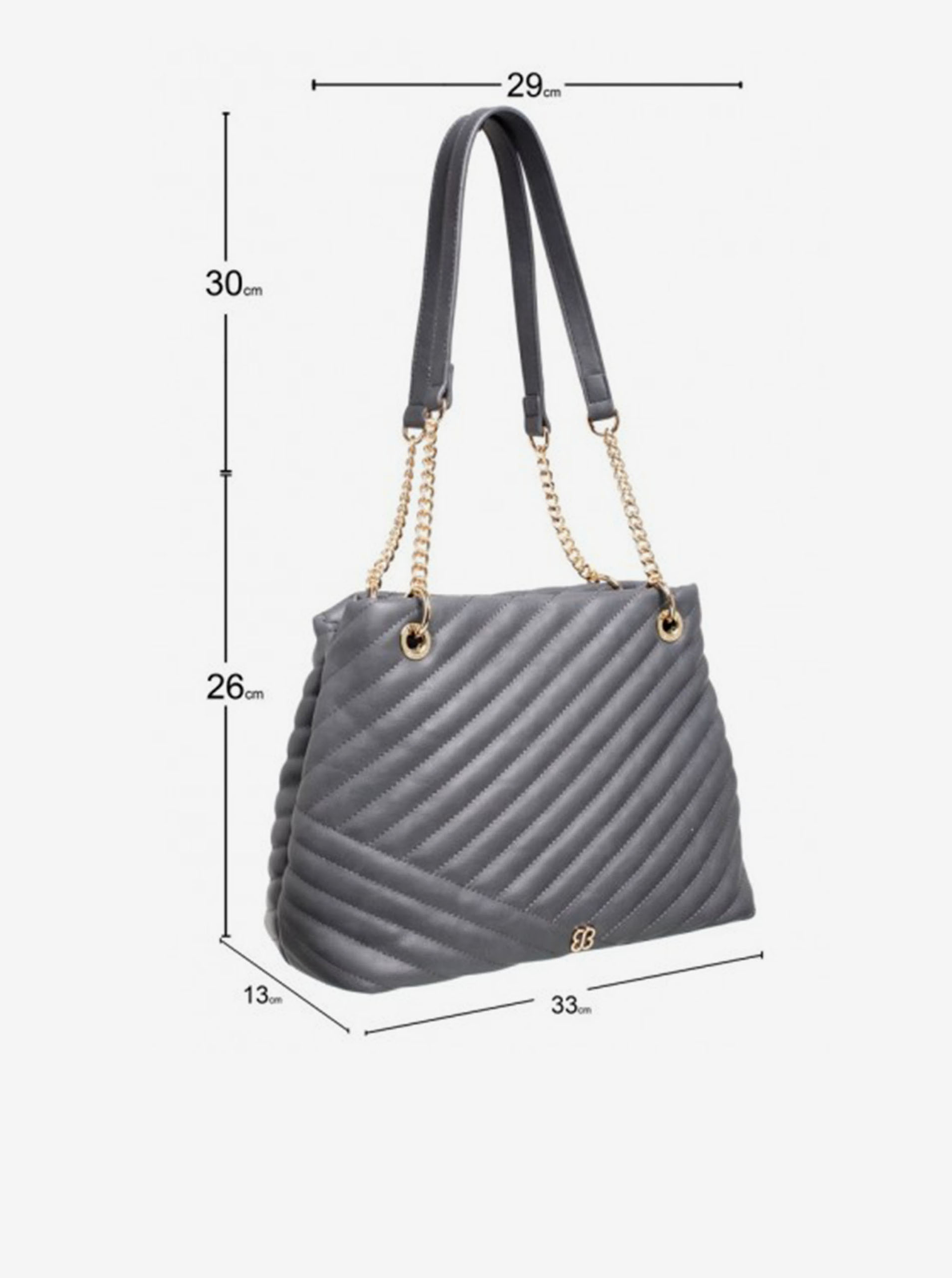 Gray Bessie London handbag