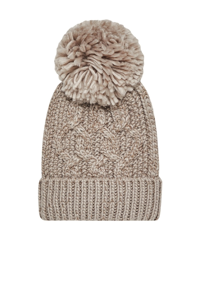 Moodo beige cap with pompom