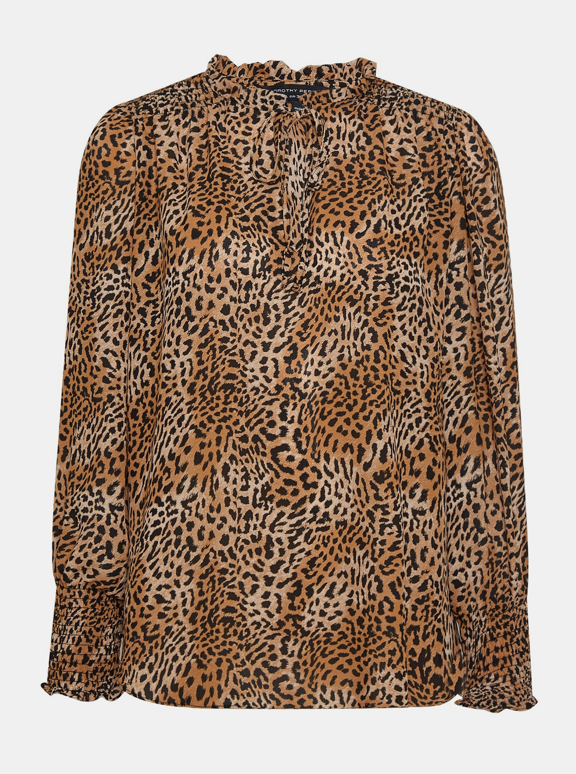 Brown blouse with leopard pattern Dorothy Perkins