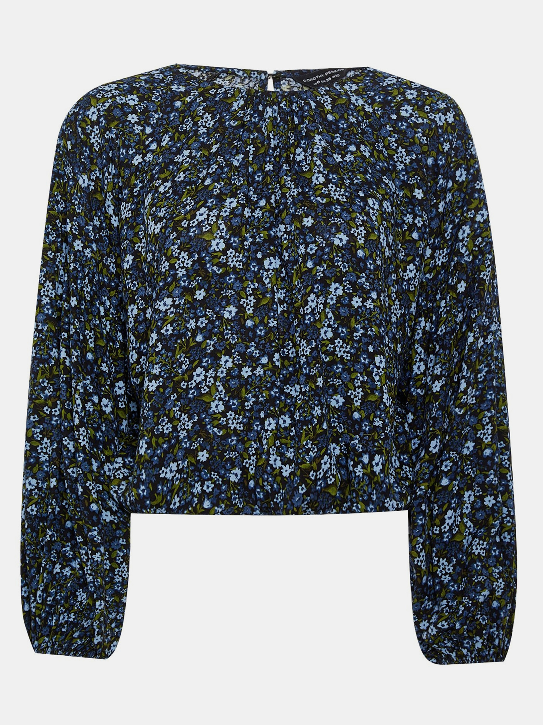 Dark blue patterned blouse Dorothy Perkins