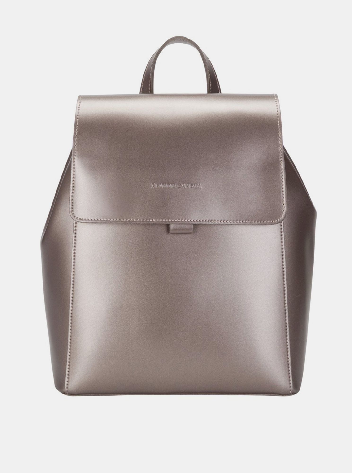 Backpack in gold color by Claudia Canova