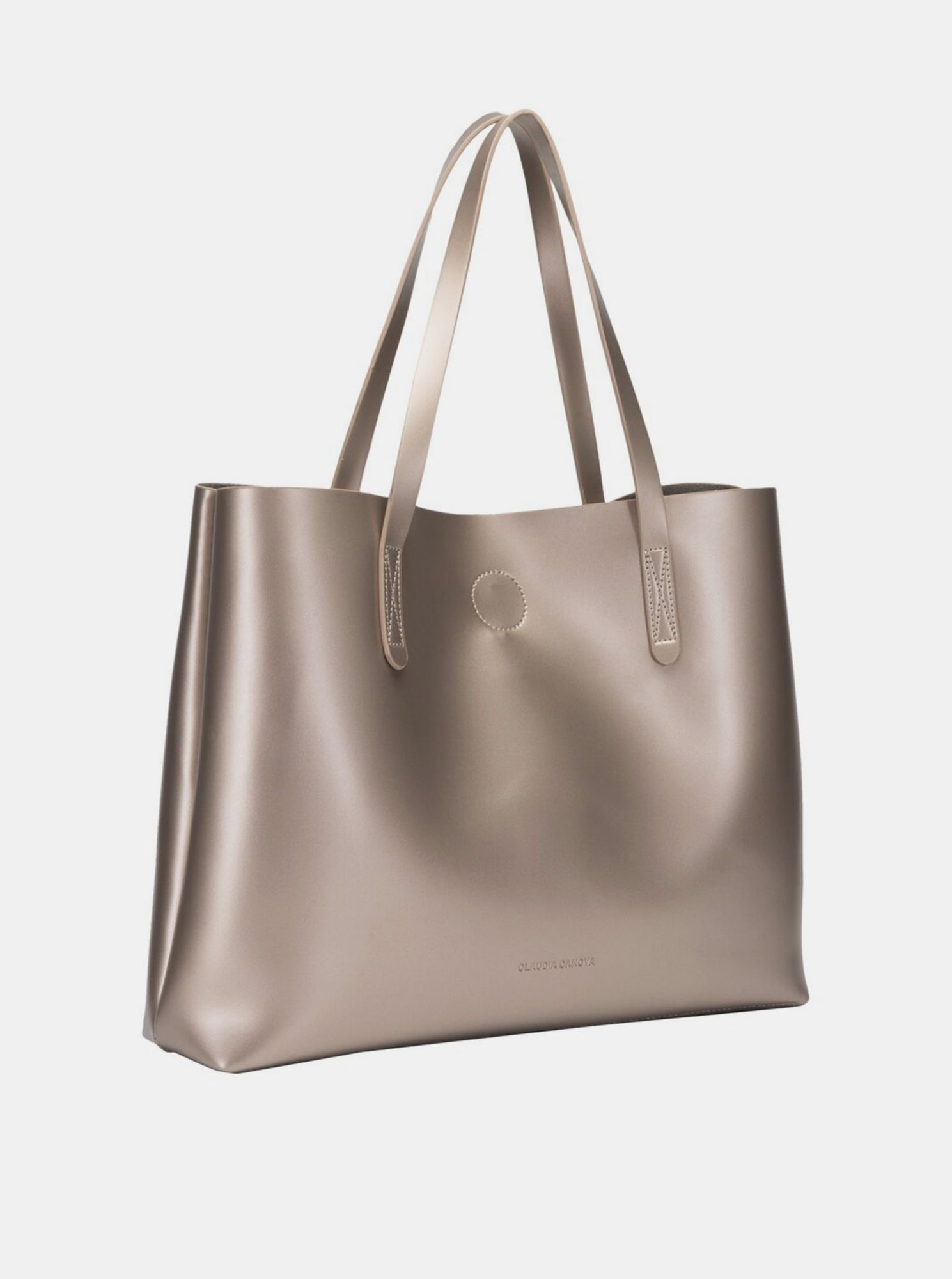 Shopper in gold color with a removable Claudia Canova case