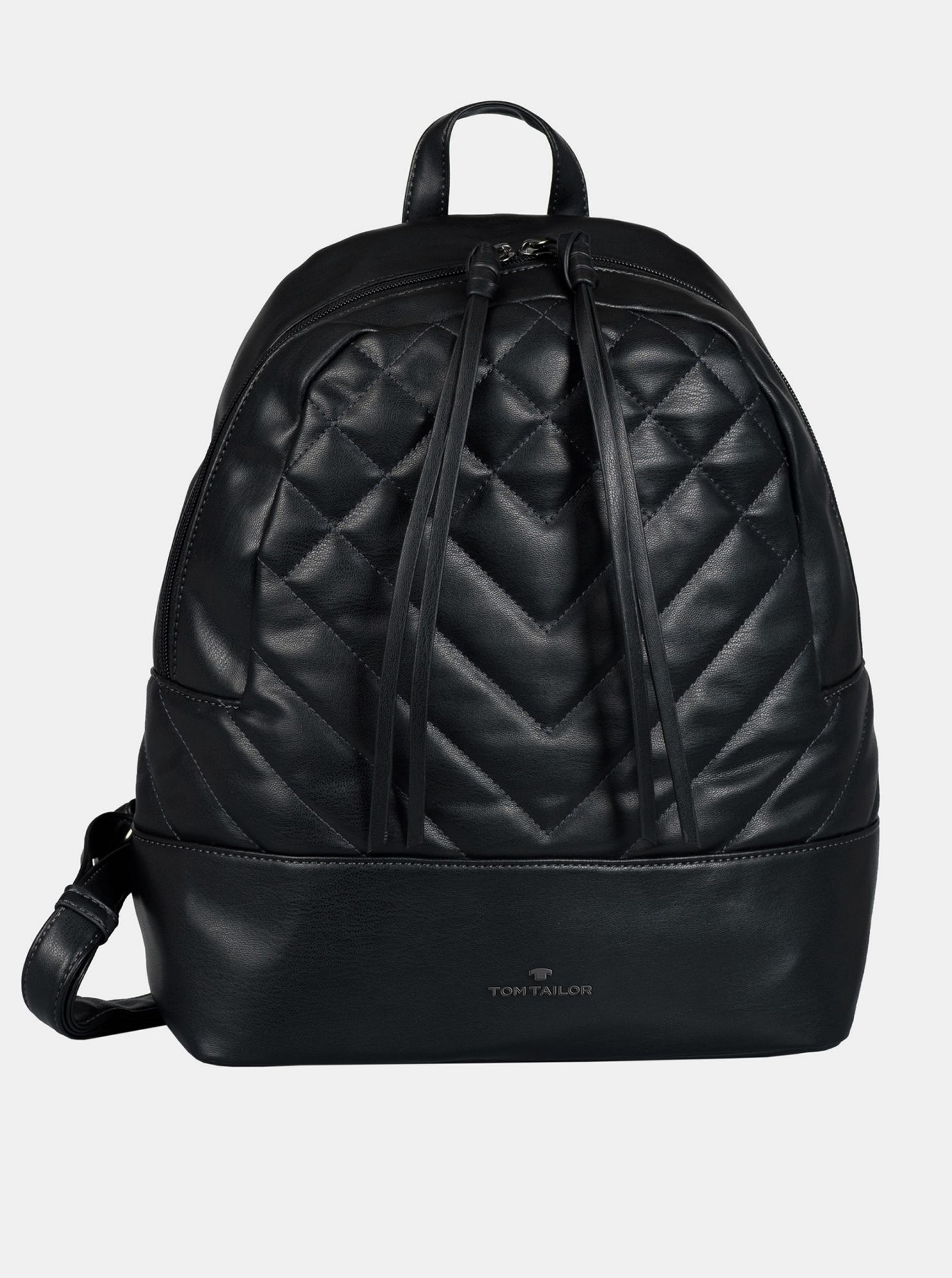 Black women's quilted backpack Tom Tailor