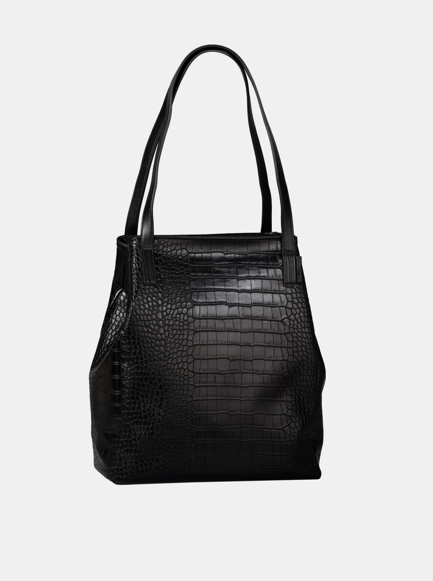 Black shopper with a crocodile pattern Tom Tailor Denim