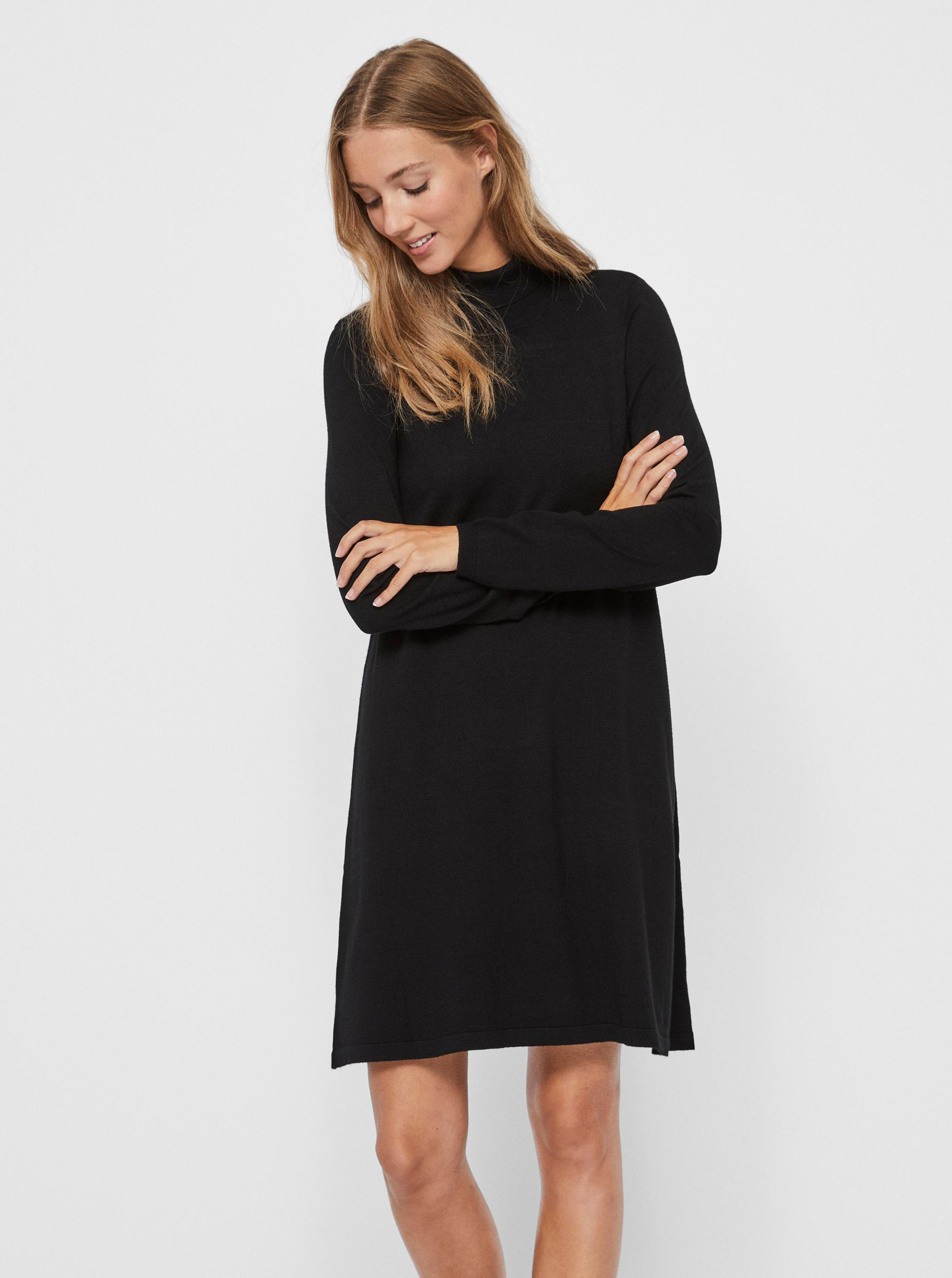 Black sweater dress VERO MODA Glory