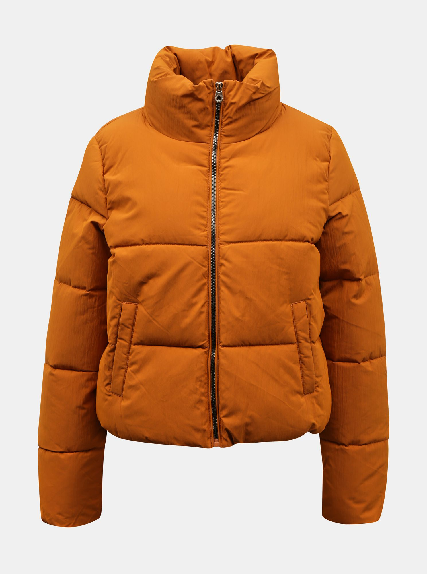 Orange winter quilted jacket ONLY Dolly