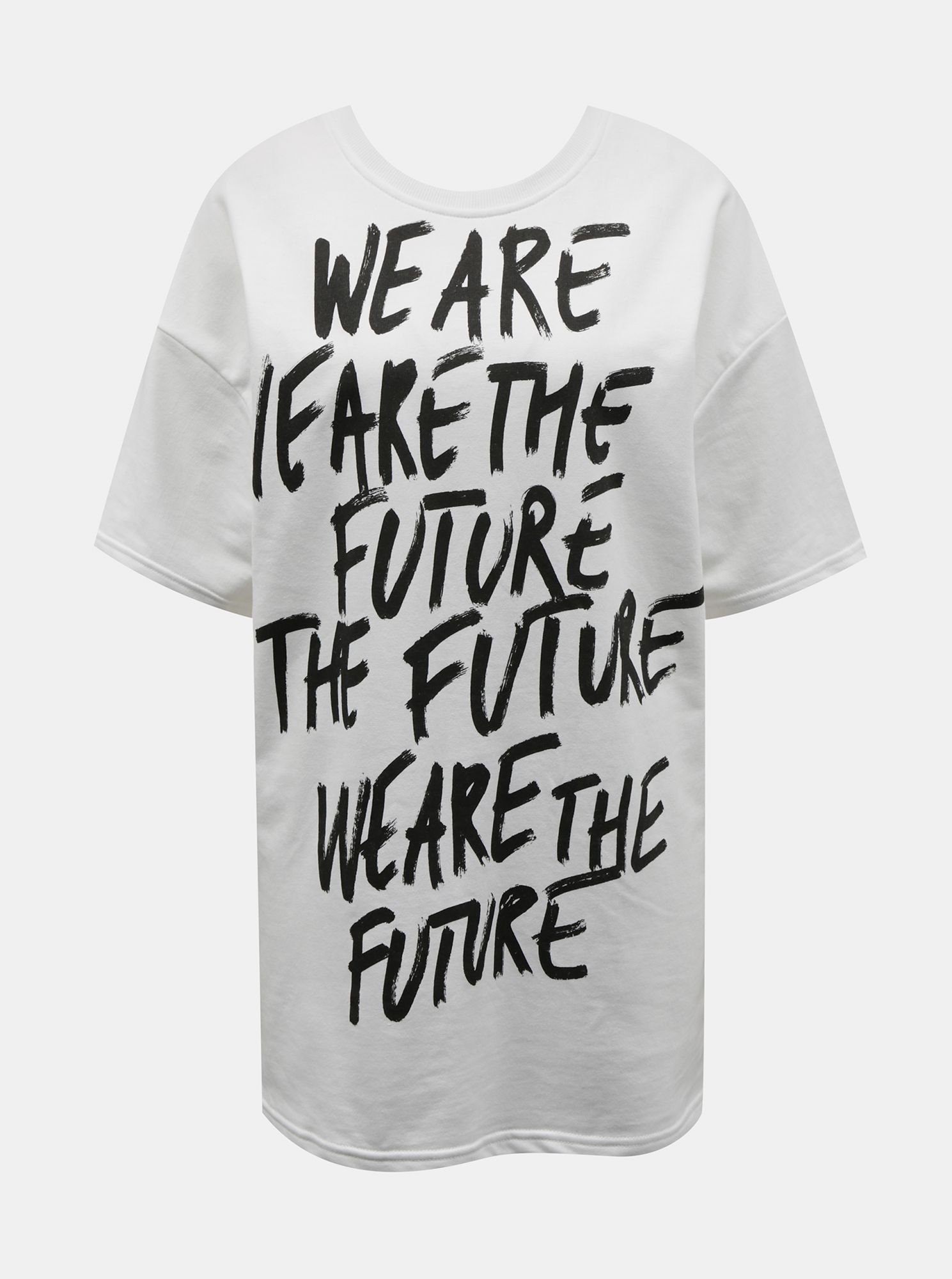 White oversize t-shirt with TALLY WEiJL print