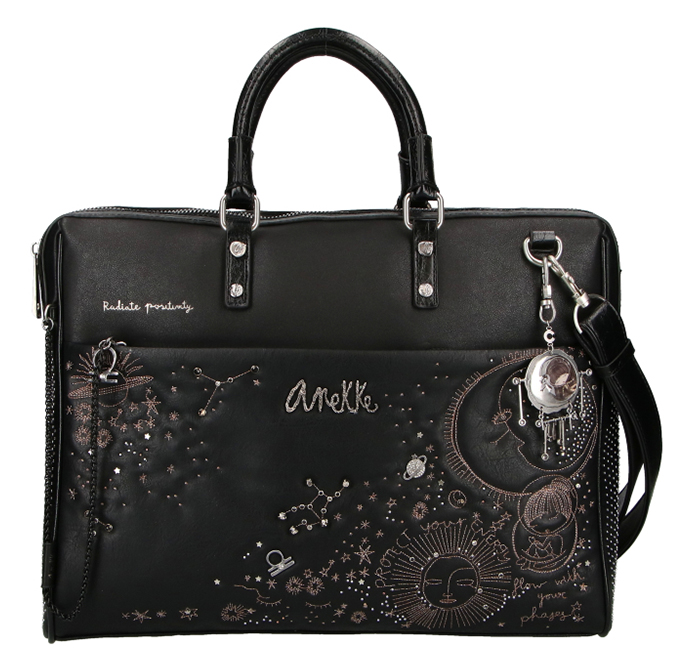 Anekke black laptop bag Universe