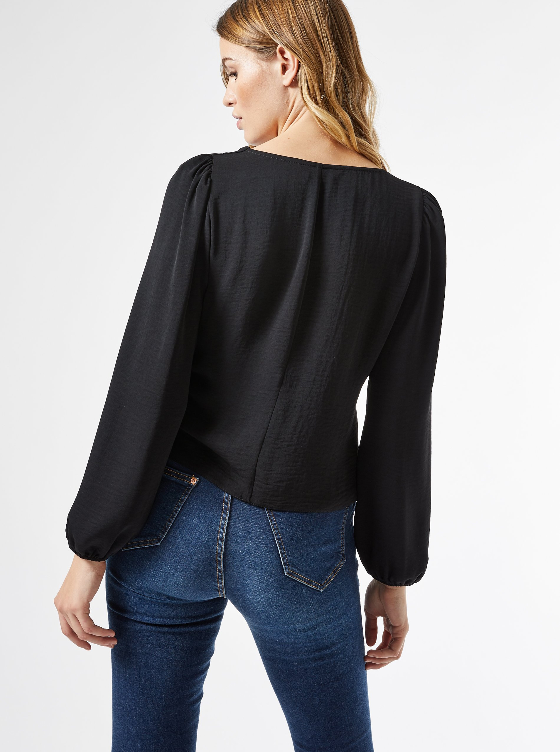 Black blouse with buttons Dorothy Perkins