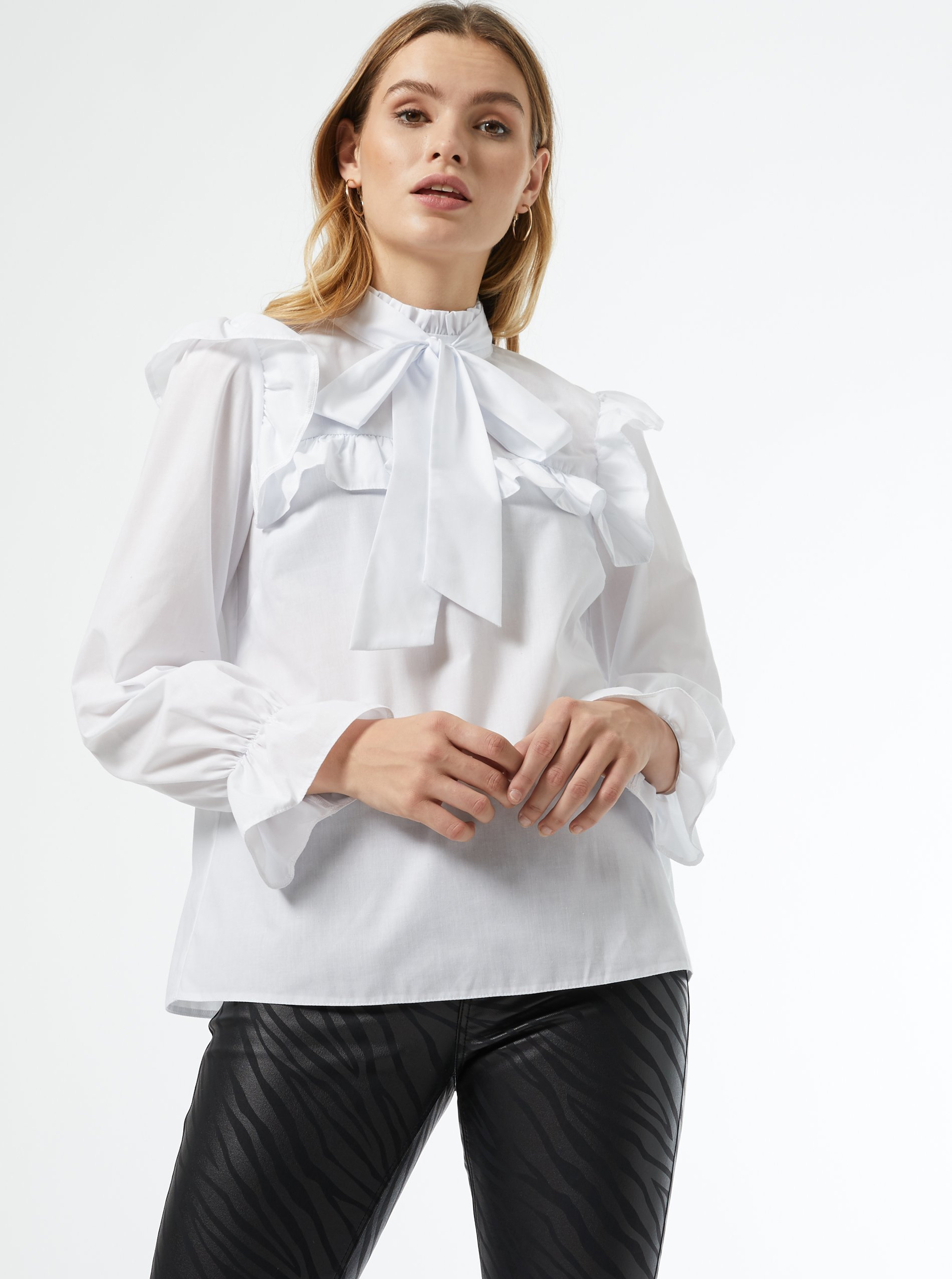 White blouse with Dorothy Perkins tie