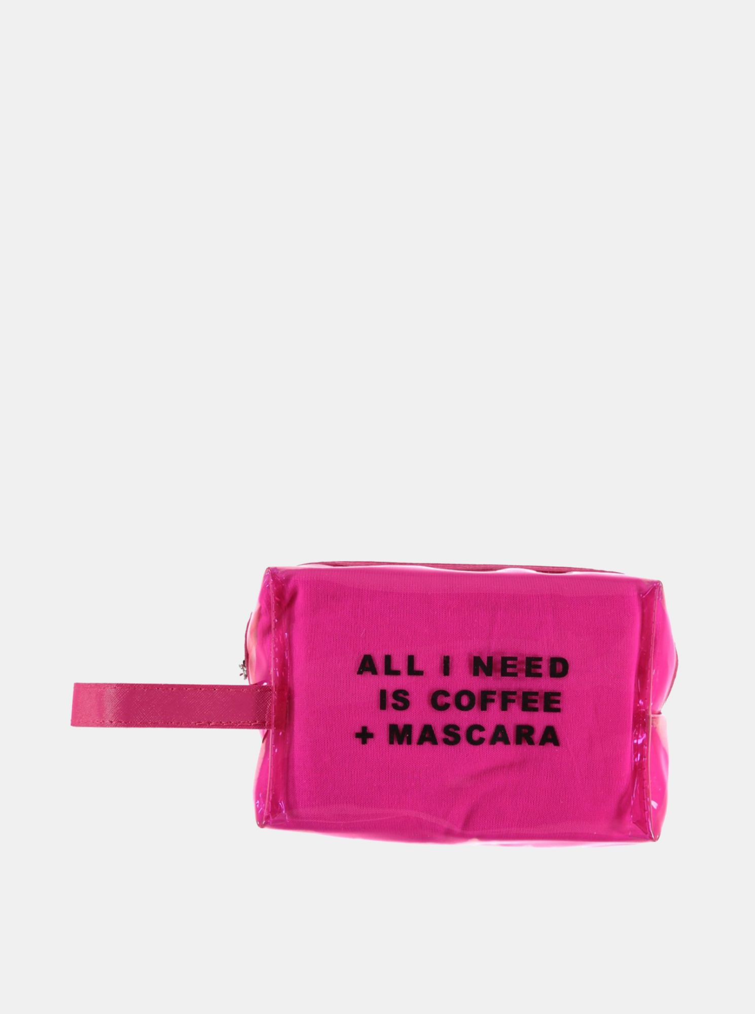 Haily´s Coffee and Mascara pink cosmetic bag