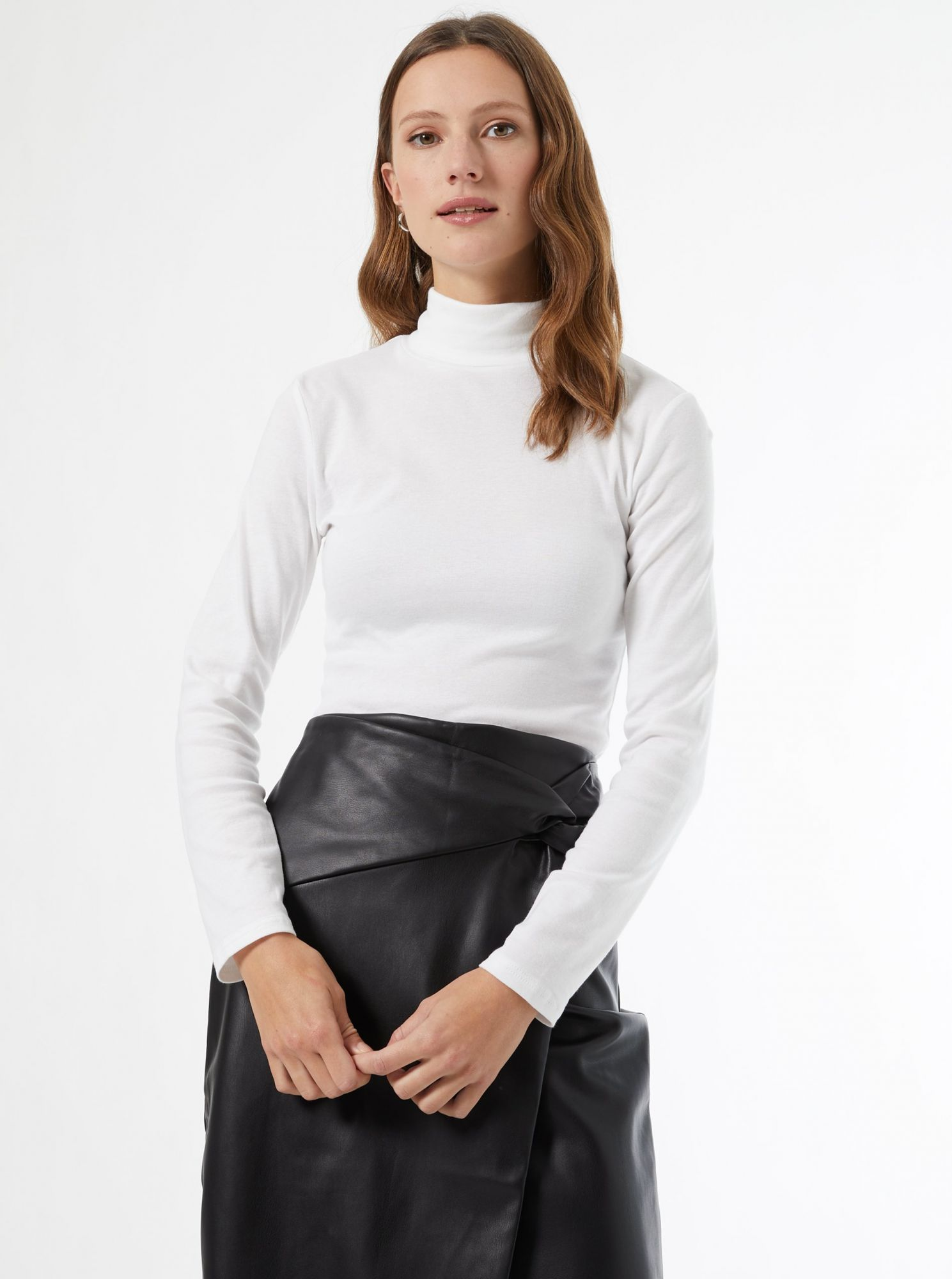 White T-shirt with Dorothy Perkins turtleneck